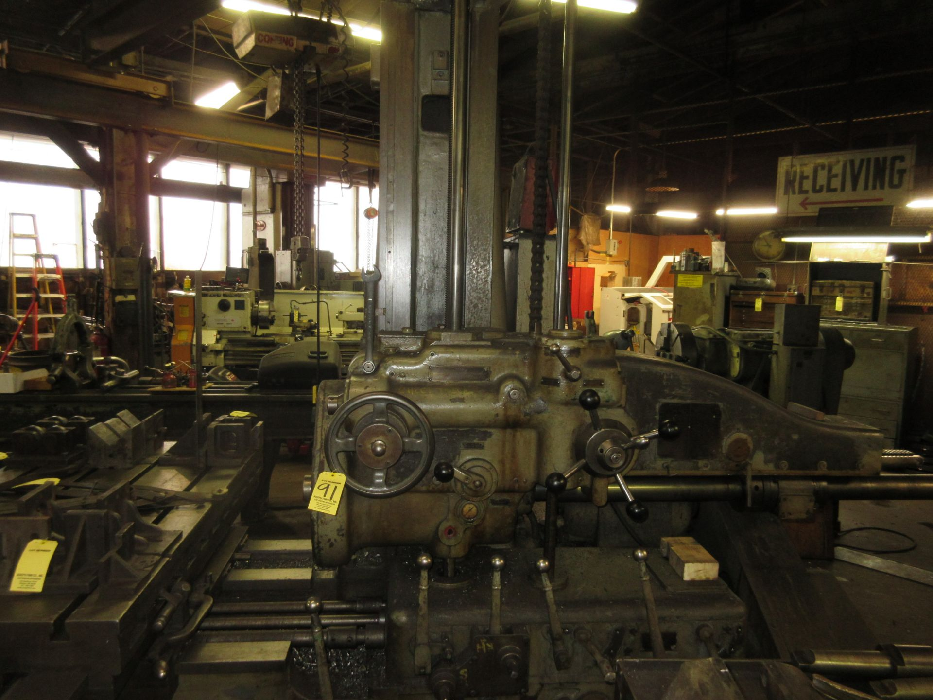 """(1) Universal Boring Machine Model 25 3"""" Spindle, 32"""" x 60"""" Table"""