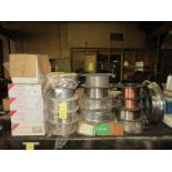 LOT Asst. Spools of Welding Wire on Bench