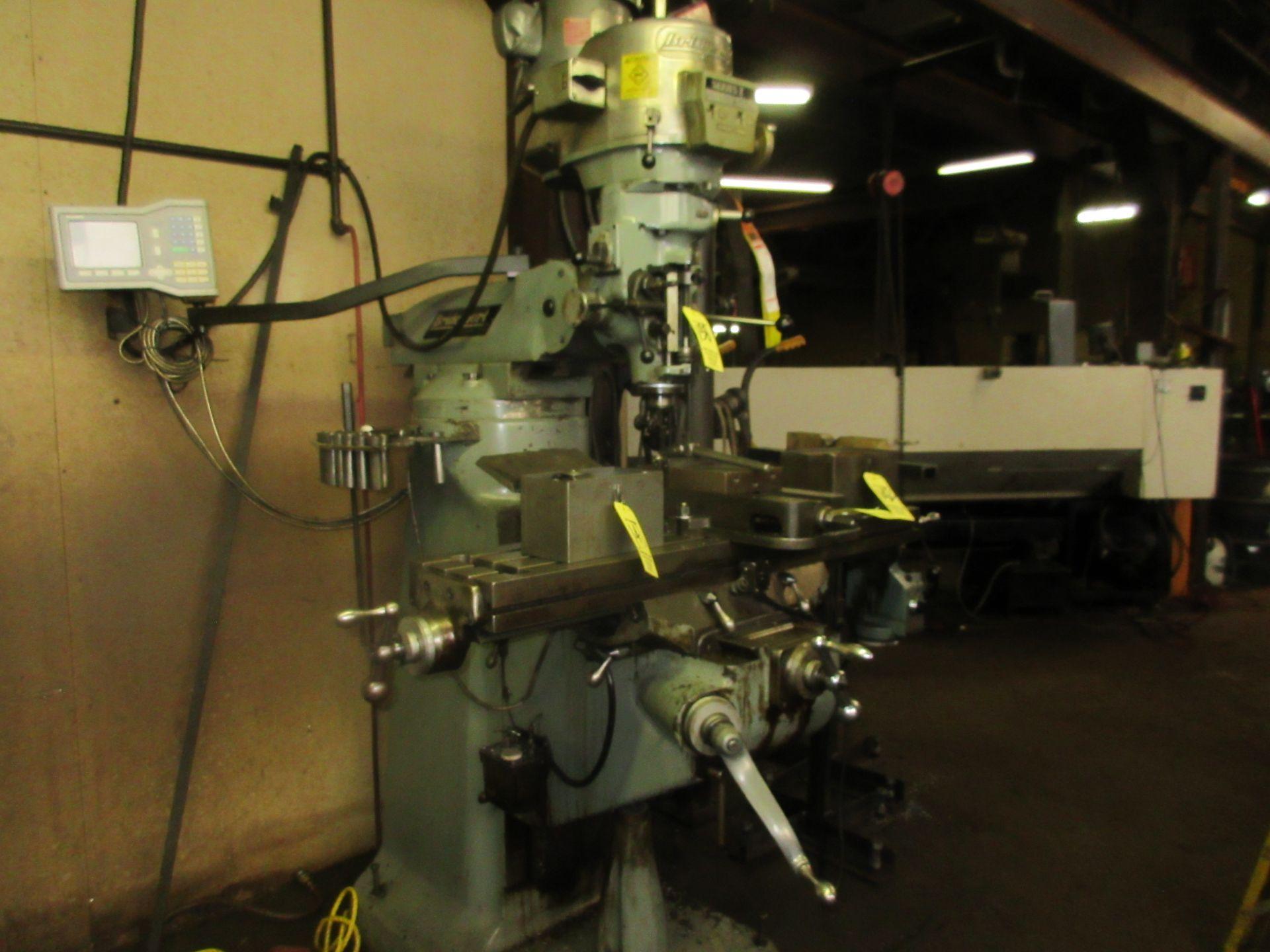 (1) Bridgeport Series 1 2 HP Vertical Miller S/N 233704, Power Feed Table - Image 6 of 6