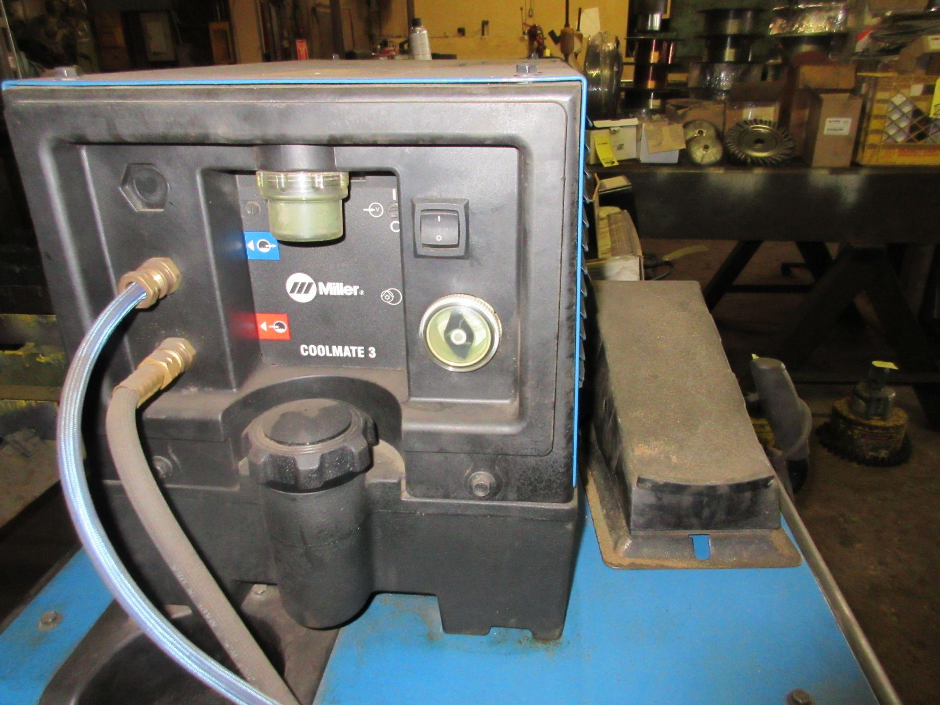 (1) Miller Syncrowave 250DX Welder, S/N LF252203, 115V, w/ Miller Coolmate 3 Cooler, Foot Control - Image 3 of 4