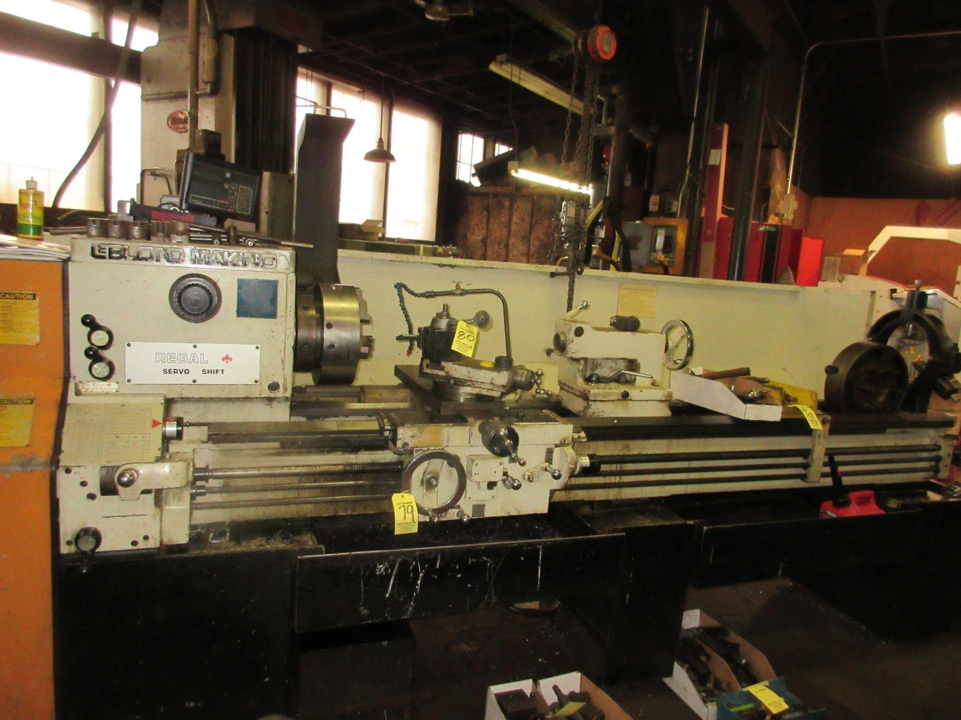 "(1) Leblond Makino Regal Servo Shift Toolroom Lathe S/N 15E-325 72"" Long W/3"" Spindle Hole (1)"