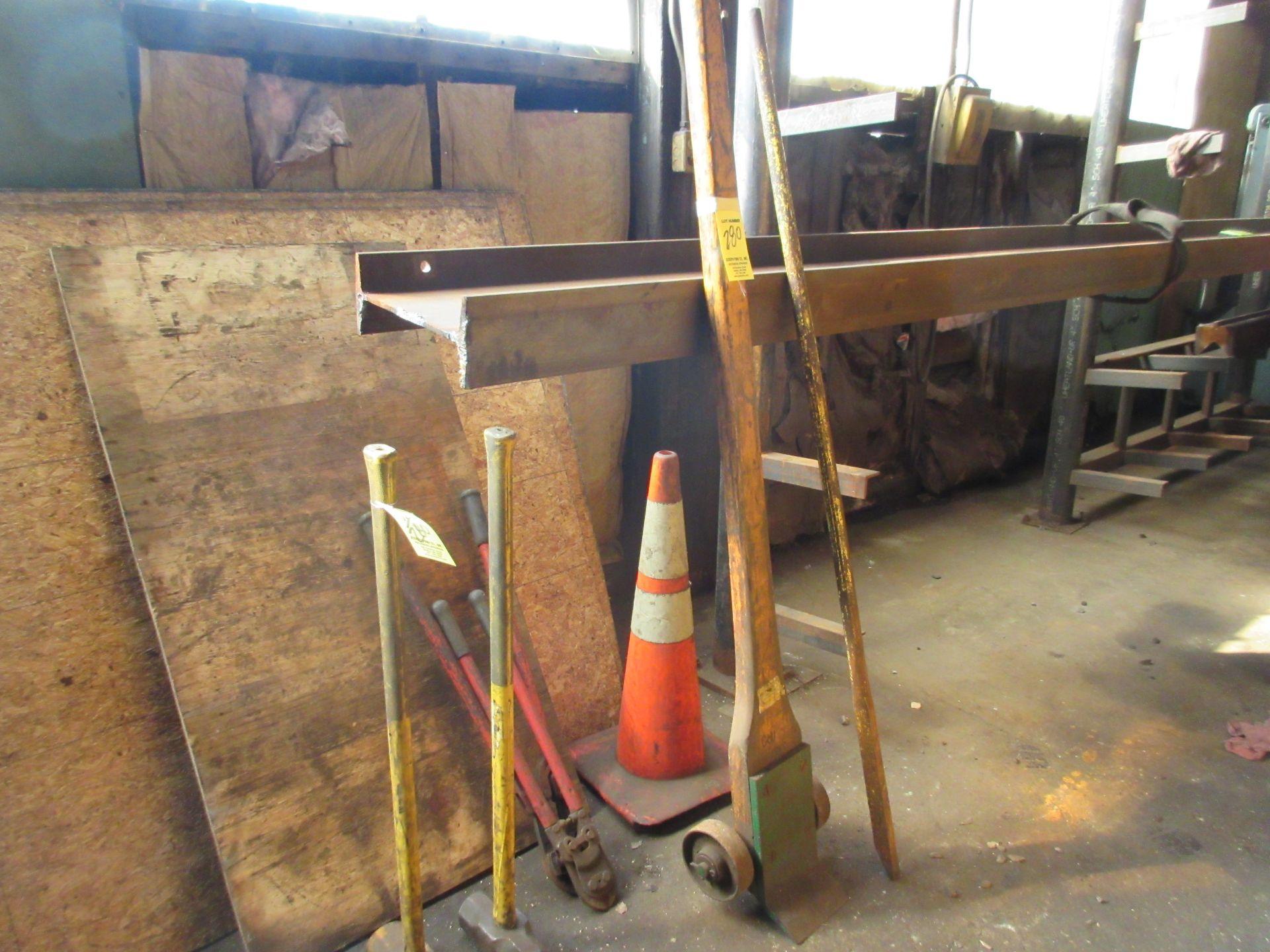LOT Johnson Bar, Pry Bar, (2) Sledgehammers