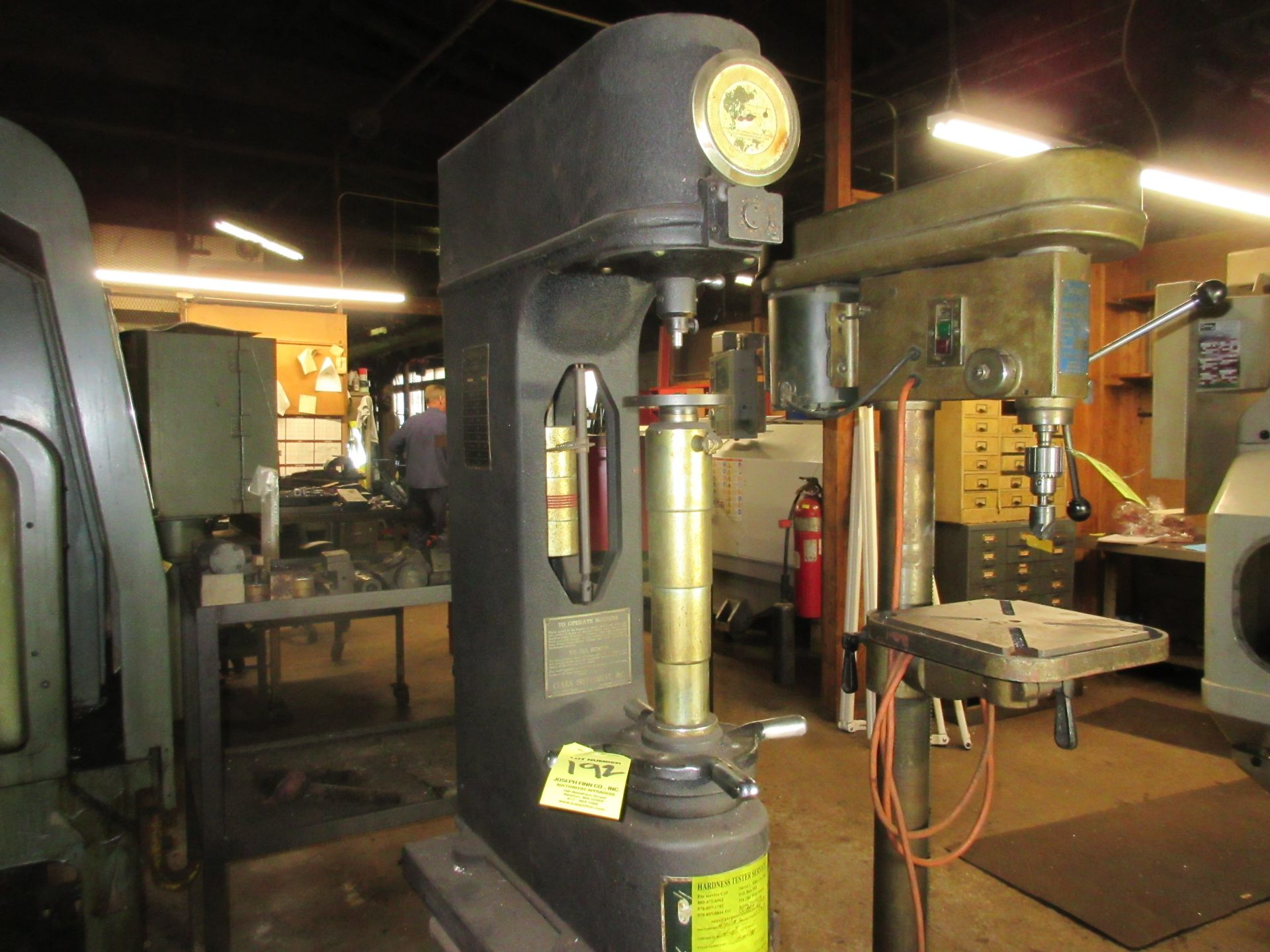 (1) Clark C2A Hardness Tester w/ Stand - Image 2 of 3