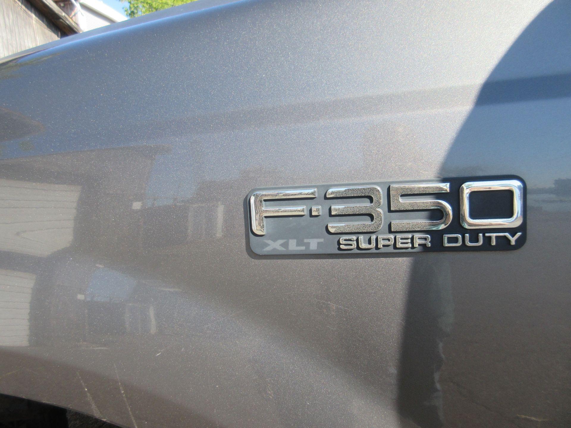 2002 Ford F-350 XLT Super Duty Power Stroke Flatbed Truck VIN 1FDWF37F62EB29656, Reading Body, - Image 13 of 13