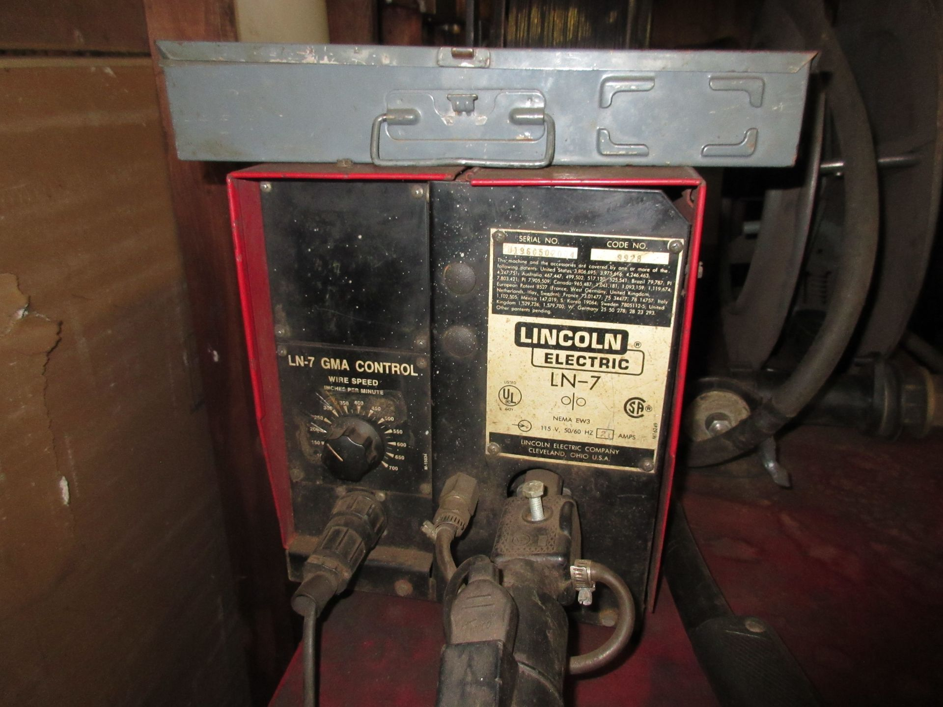 (1) Lincoln Idealarc DC-60 Arc Welder, 230V, Lincoln LN-7 Wire Feed - Image 4 of 4