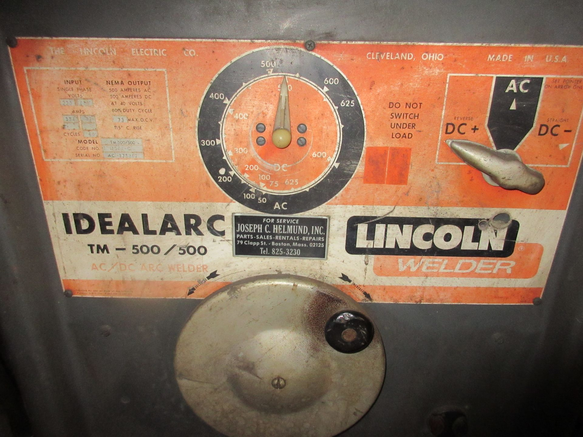 (1) Lincoln Idealarc 500/500 Welder, Port. - Image 2 of 2