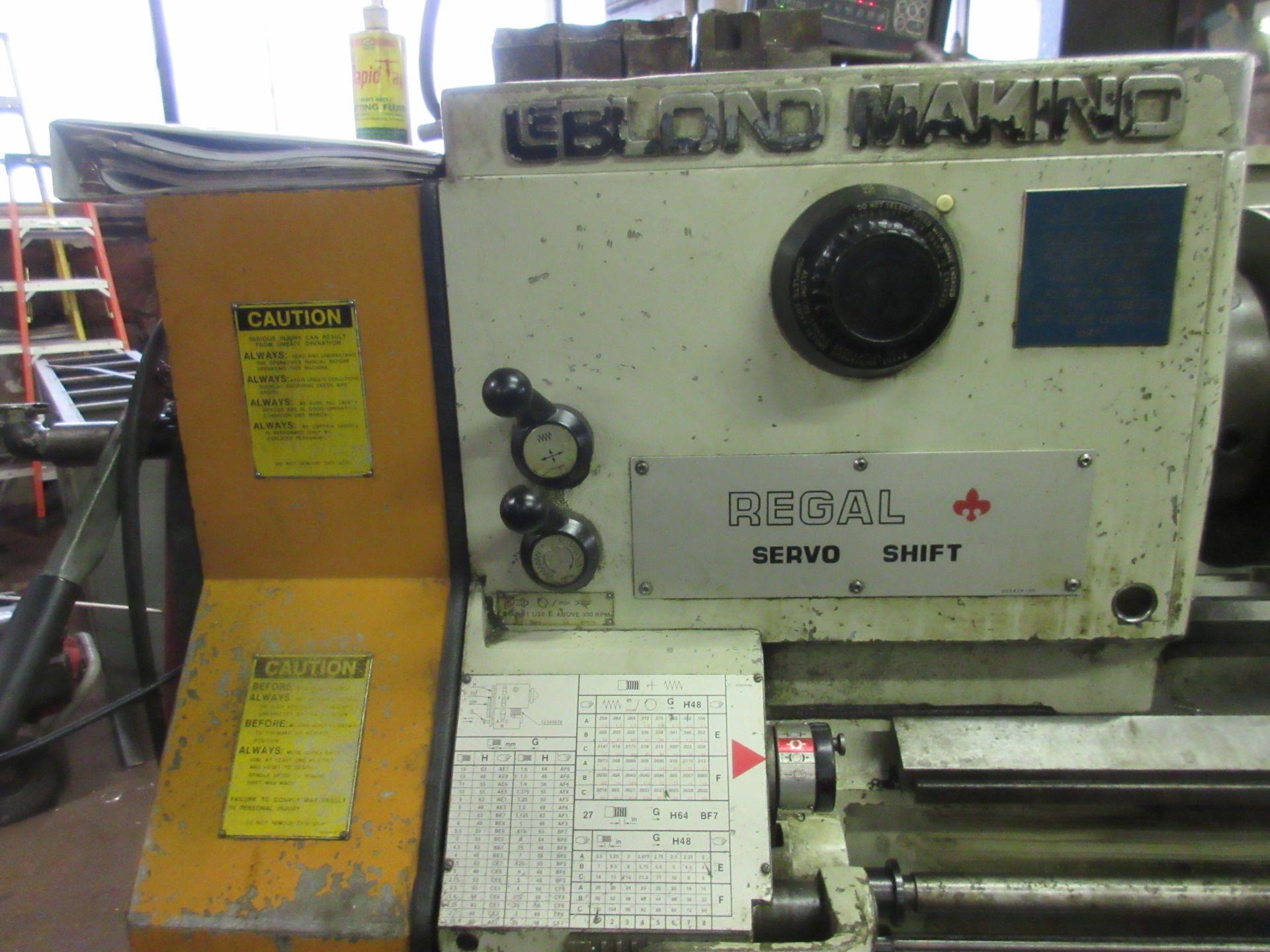 "(1) Leblond Makino Regal Servo Shift Toolroom Lathe S/N 15E-325 72"" Long W/3"" Spindle Hole (1) - Image 2 of 6"