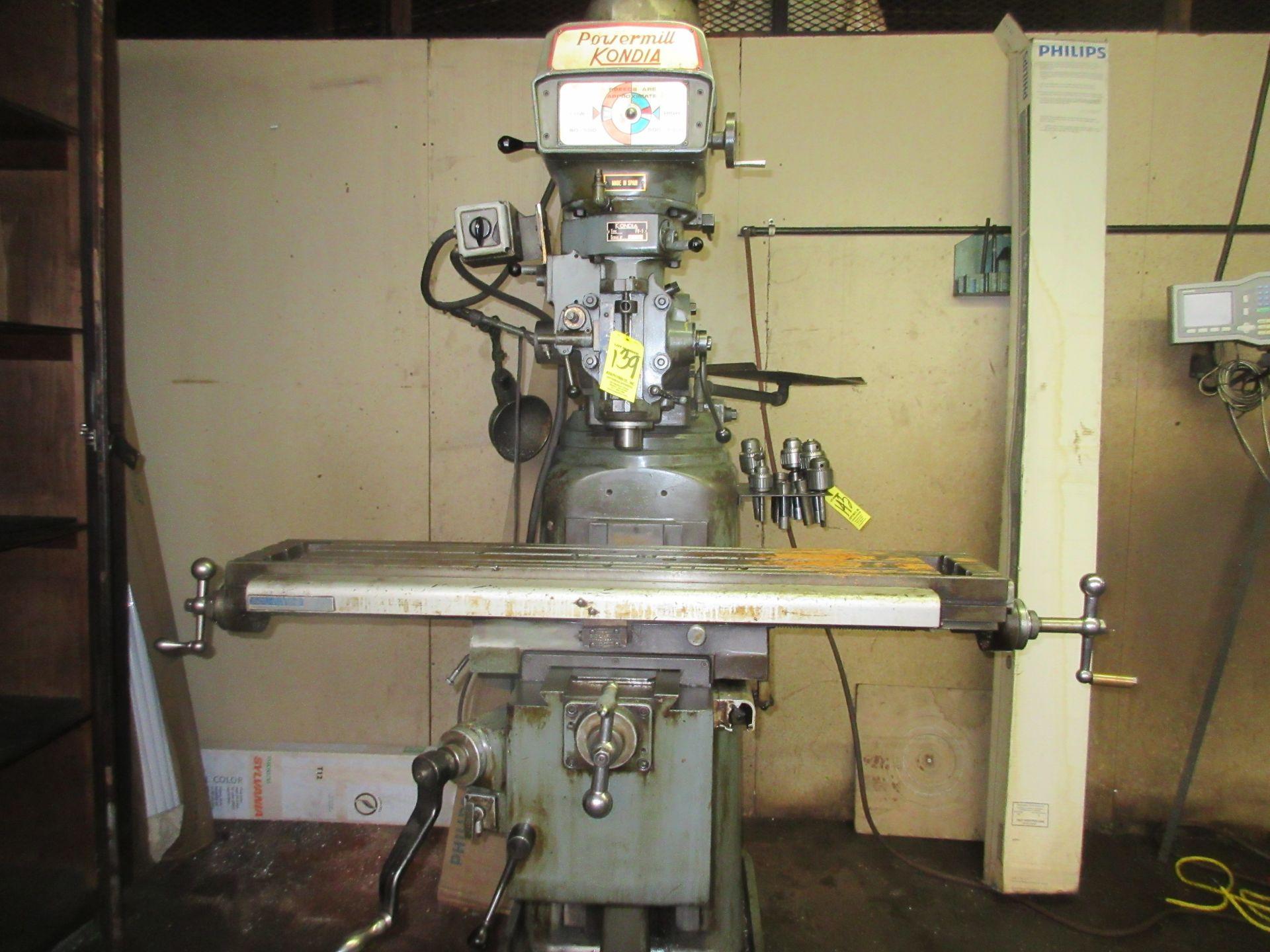 (1) Kondia Powermill FV-1 Vertical Miller S/N M358