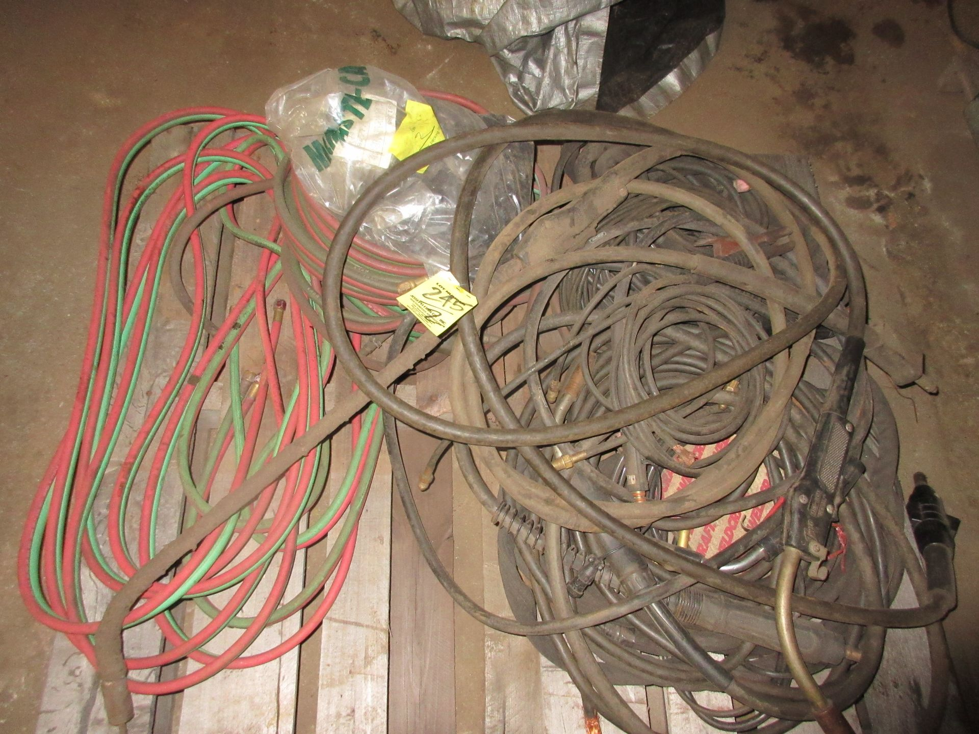LOT Asst. Welding Cable & Torches on (2) Pallets