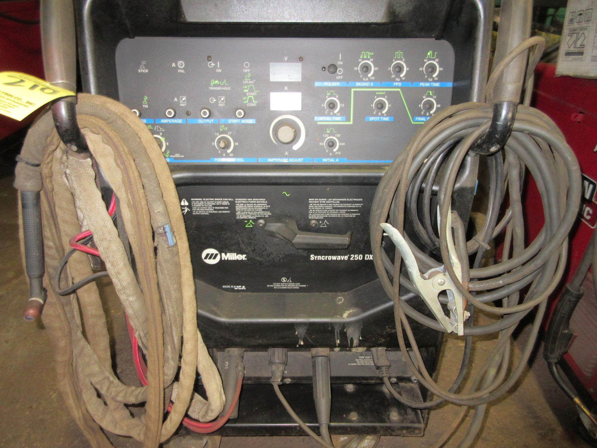 (1) Miller Syncrowave 250DX Welder, S/N LF252203, 115V, w/ Miller Coolmate 3 Cooler, Foot Control - Image 2 of 4
