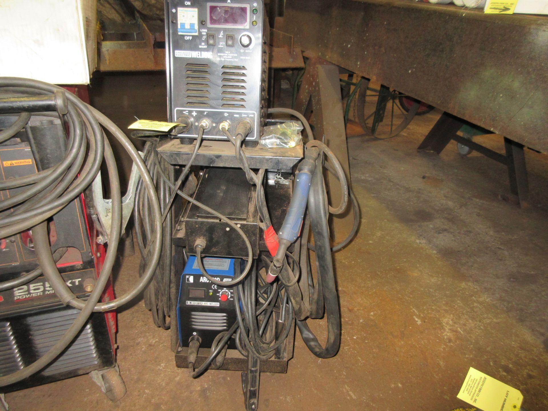 (1) IGBT Arc 160D Invertor Arc Welder w/ Chicago Electric Invertor Tig/Stick Welder, Foot Control