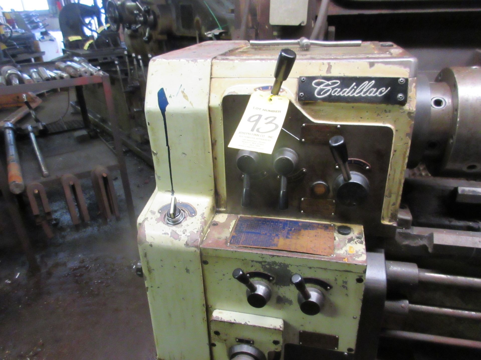 """(1) Cadillac 1040 Toolroom Lathe (1) 8"""" 3 Jaw & (1) 8"""" 4 Jaw Universal Independent Chucks & Steady - Image 3 of 5"""