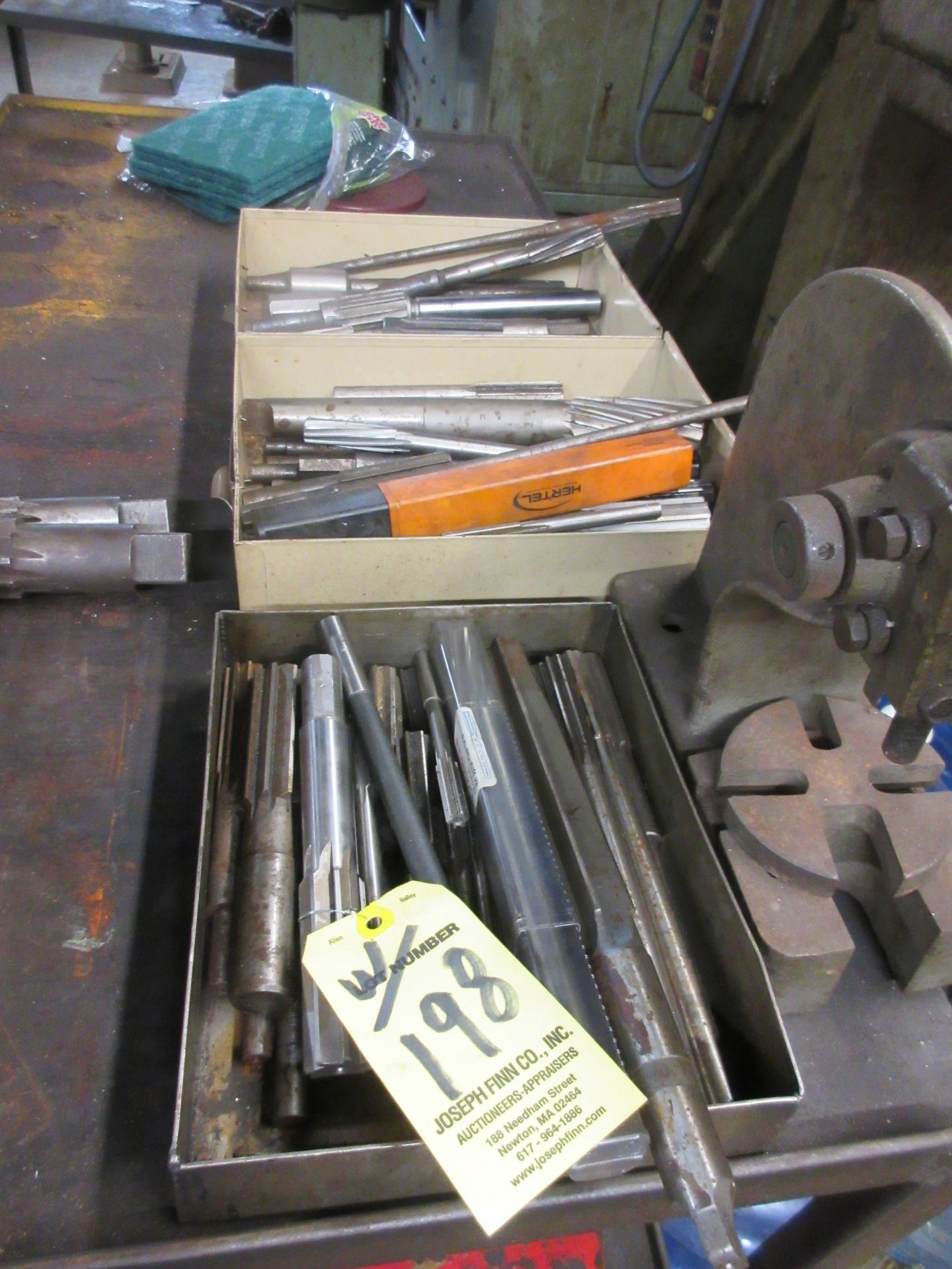 LOT (3) Drill Index Cabinets, Drills, Mills, Reamers, in Cabinets & on Shelf - Image 4 of 5