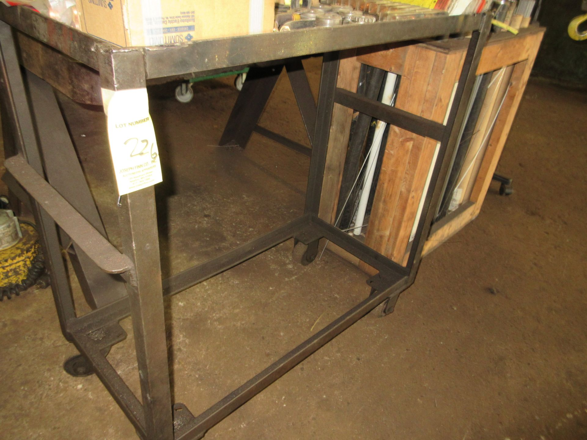 """(1) 18""""x36"""" Port. Steel Cart"""