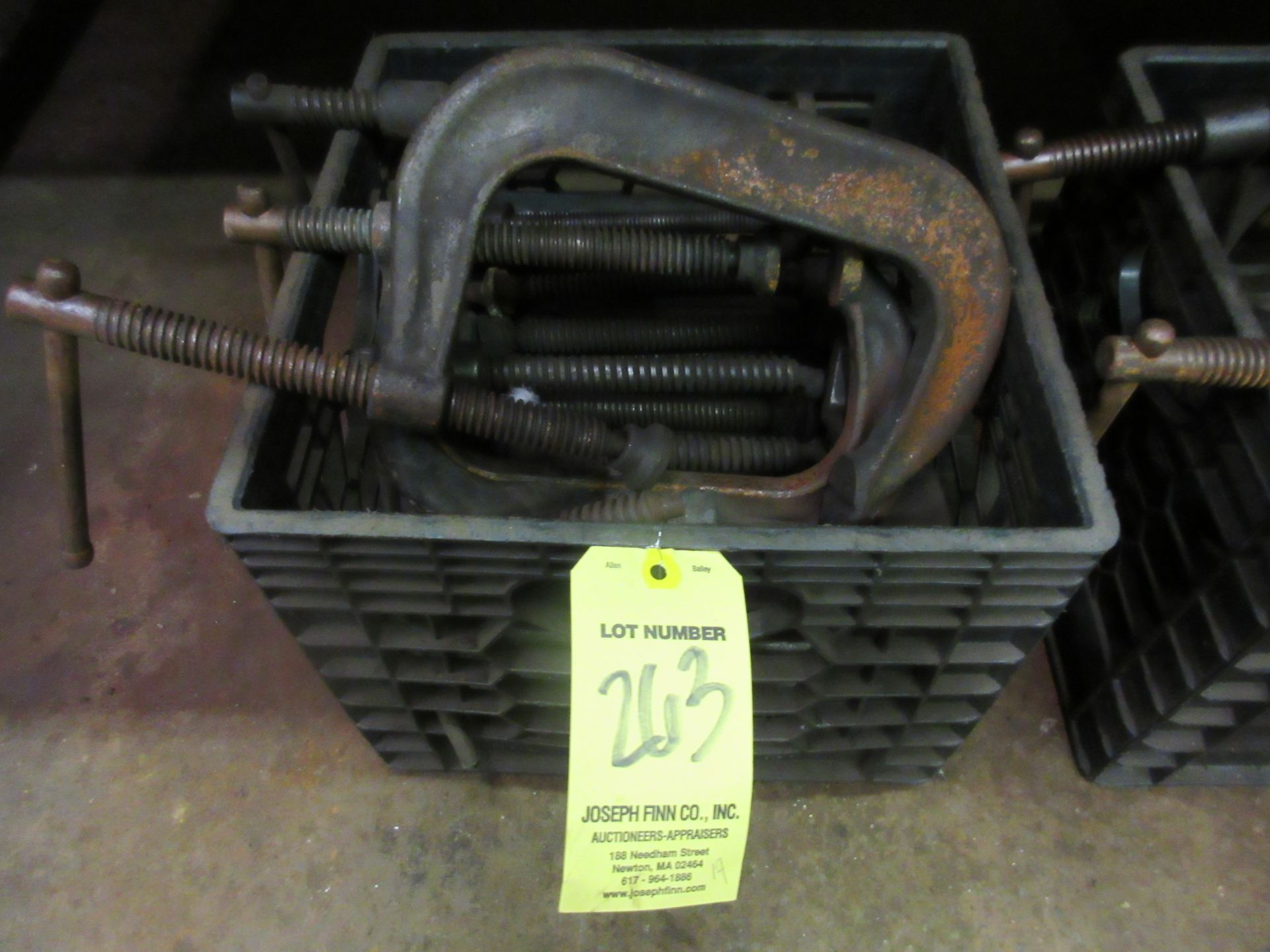 """LOT (17) Asst. """"C"""" Clamps in Crate"""