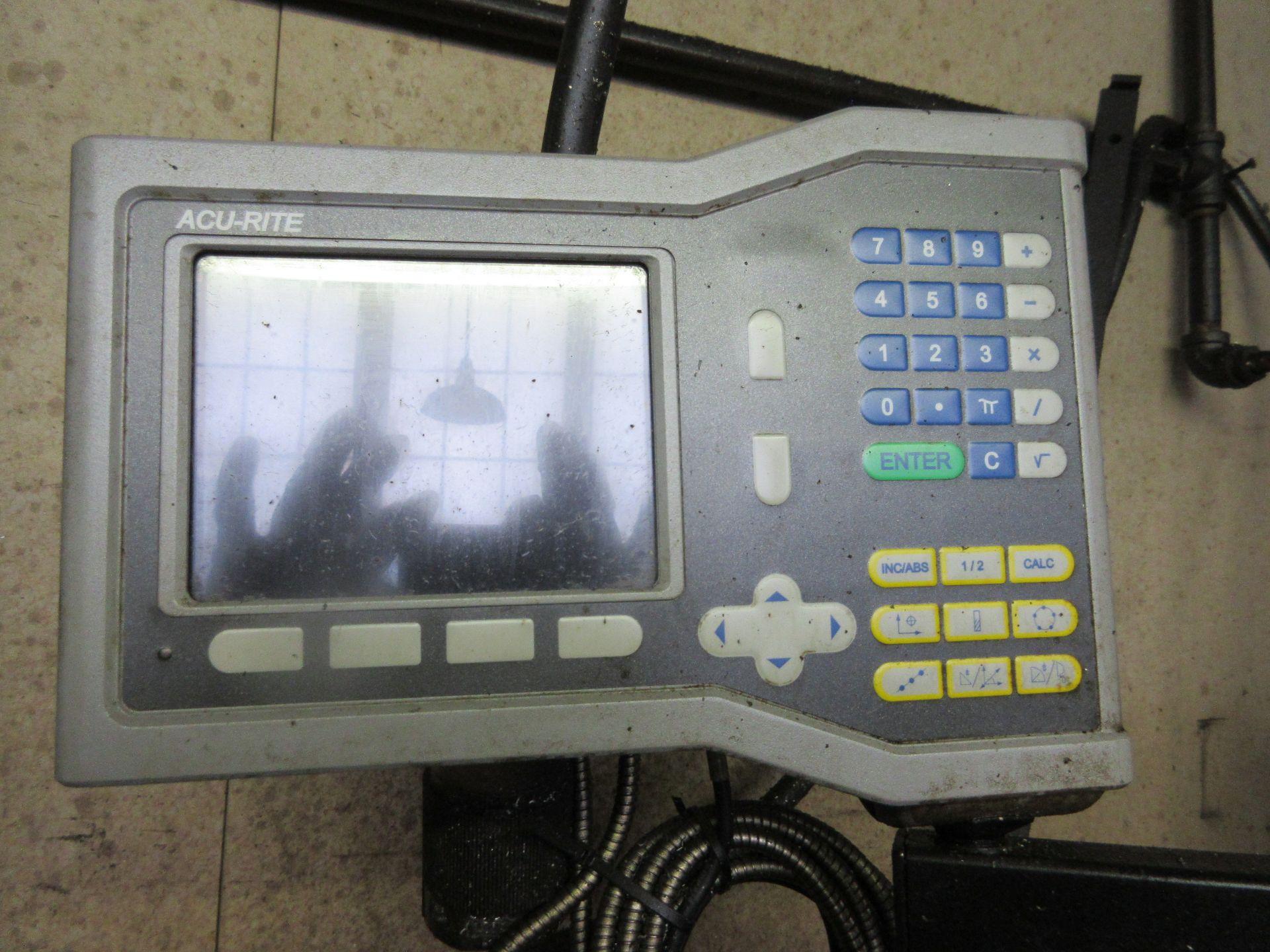 (1) Bridgeport Series 1 2 HP Vertical Miller S/N 233704, Power Feed Table - Image 4 of 6