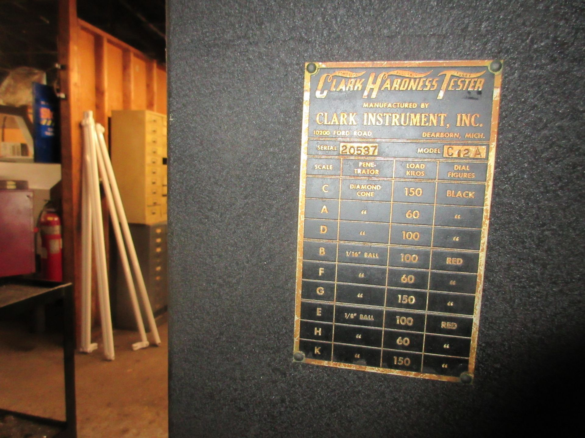 (1) Clark C2A Hardness Tester w/ Stand - Image 3 of 3