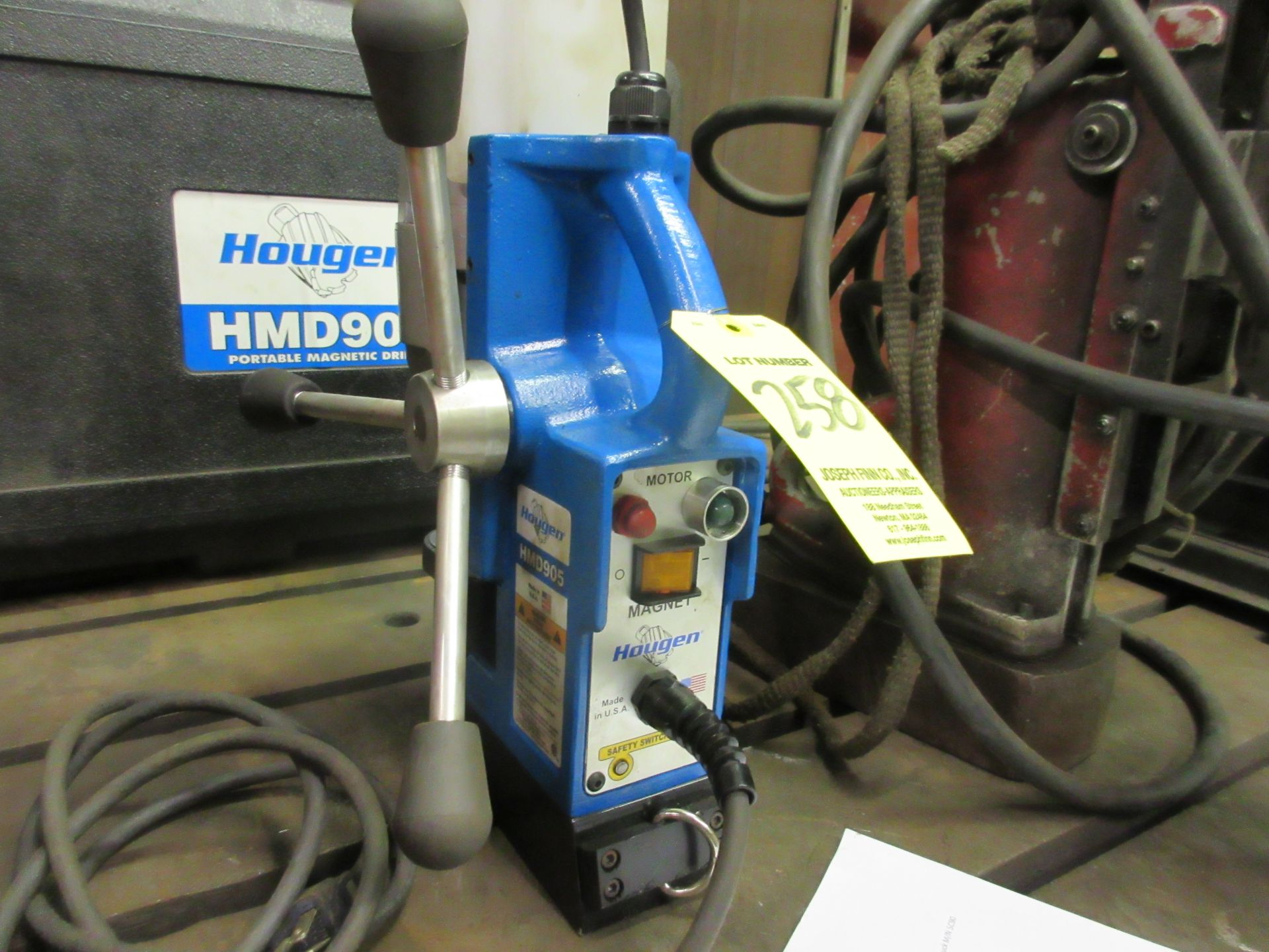 (1) Hougen Mag Base Annular Drill M/N HMD905 with Plastic Case