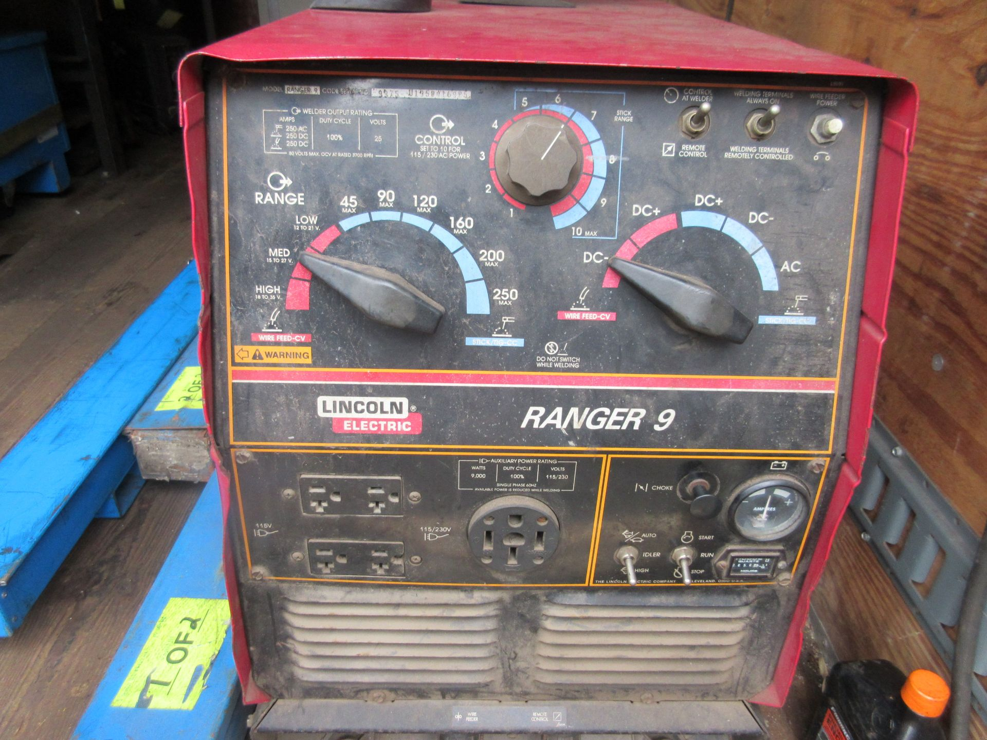 (1) Lincoln Ranger 9 Welder Generator This lot is being sold subject to the bulk bid lot number - Image 2 of 3