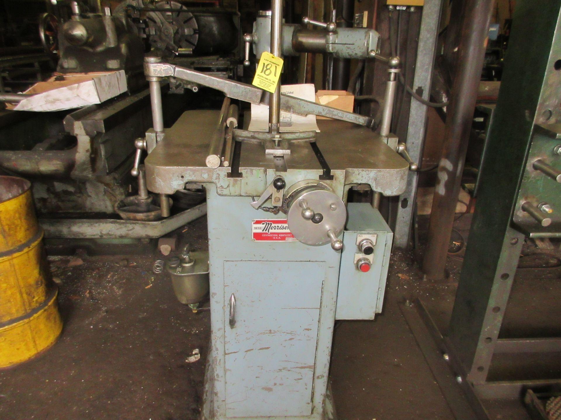 "(1) D.C. Morrison K86 Keyseating Machine s/n 4435 1-1/4"" Capacity"