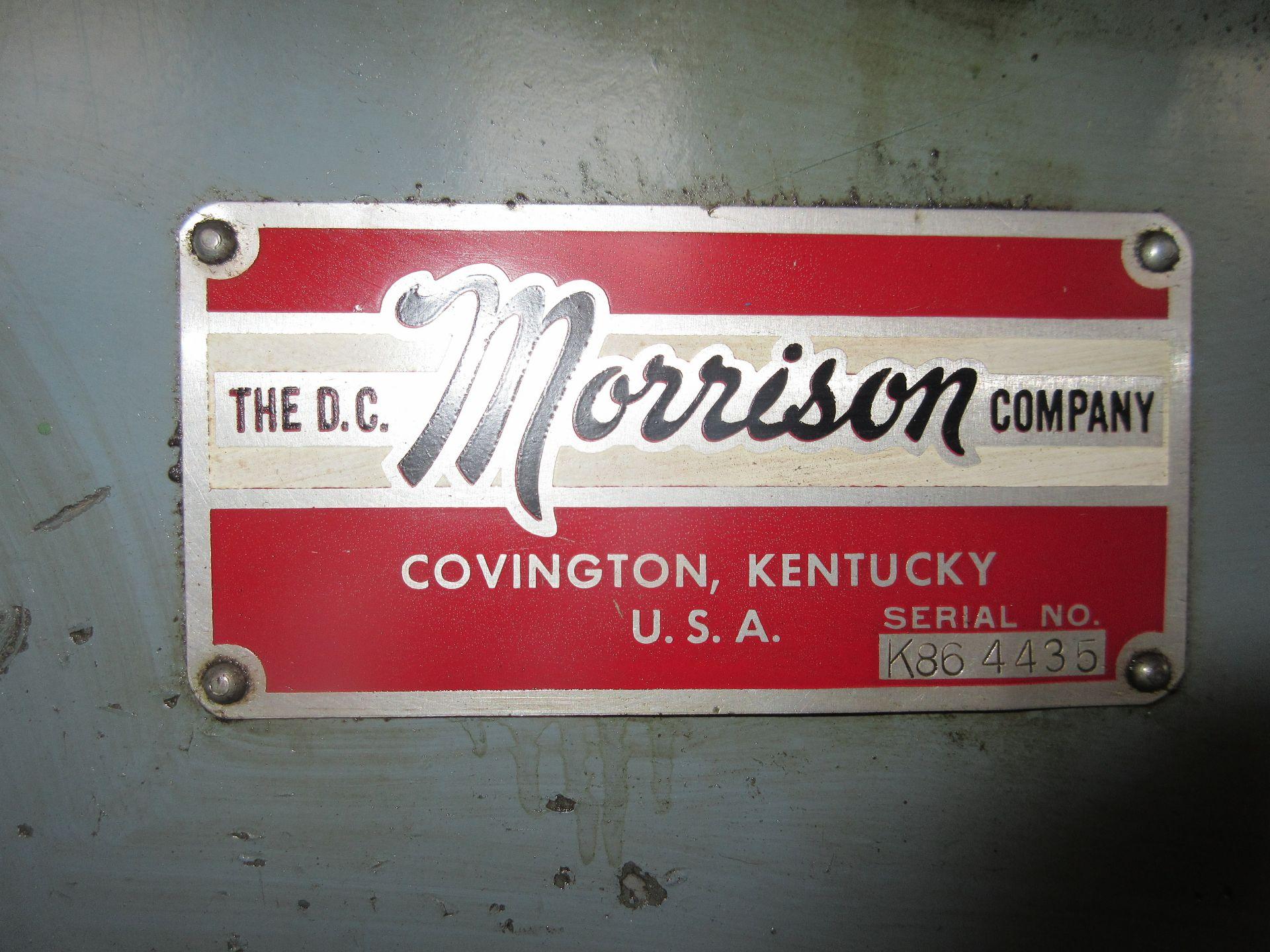 "(1) D.C. Morrison K86 Keyseating Machine s/n 4435 1-1/4"" Capacity - Image 2 of 3"