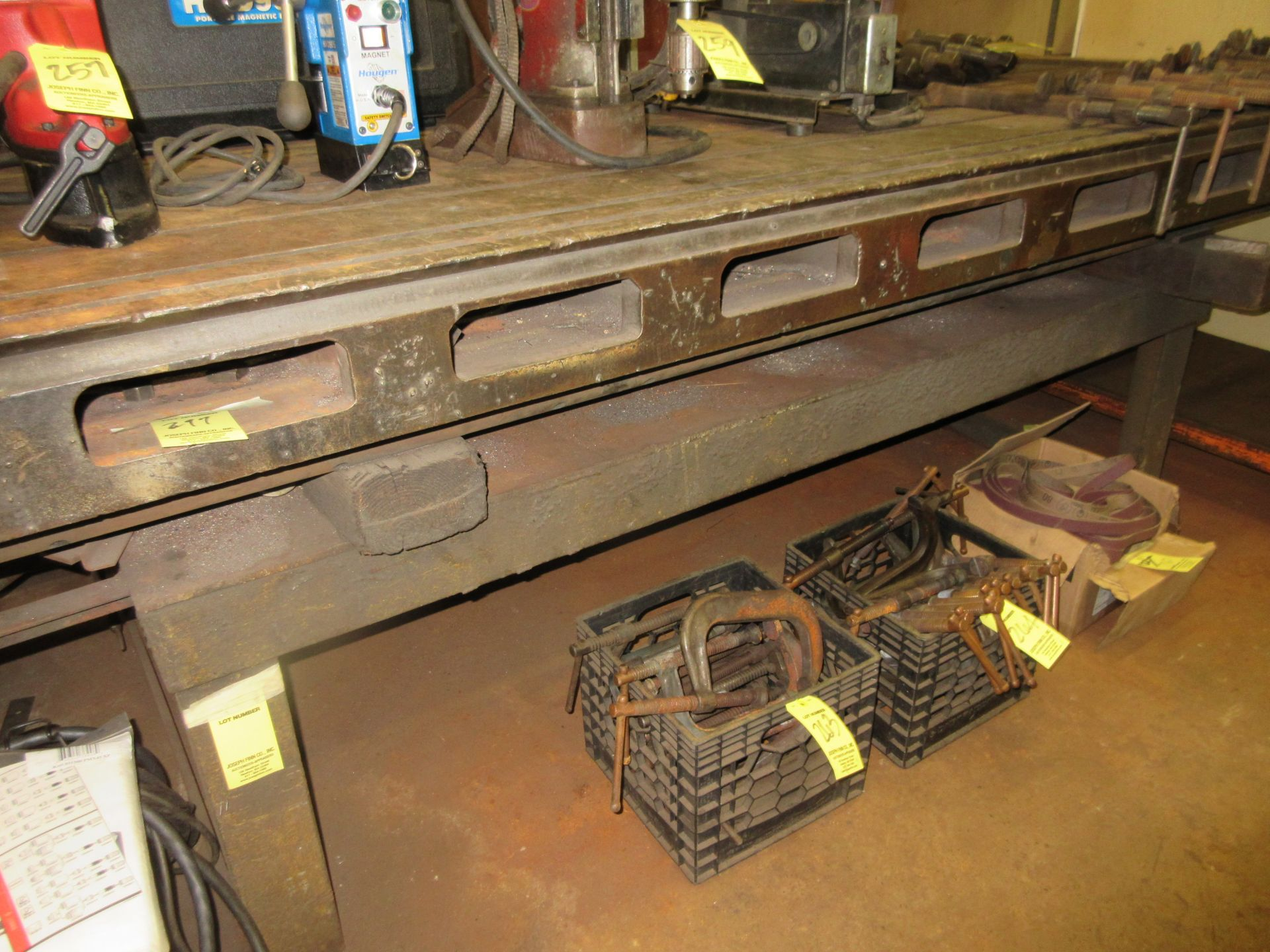 (1) 4'x10' Steel Slotted Table