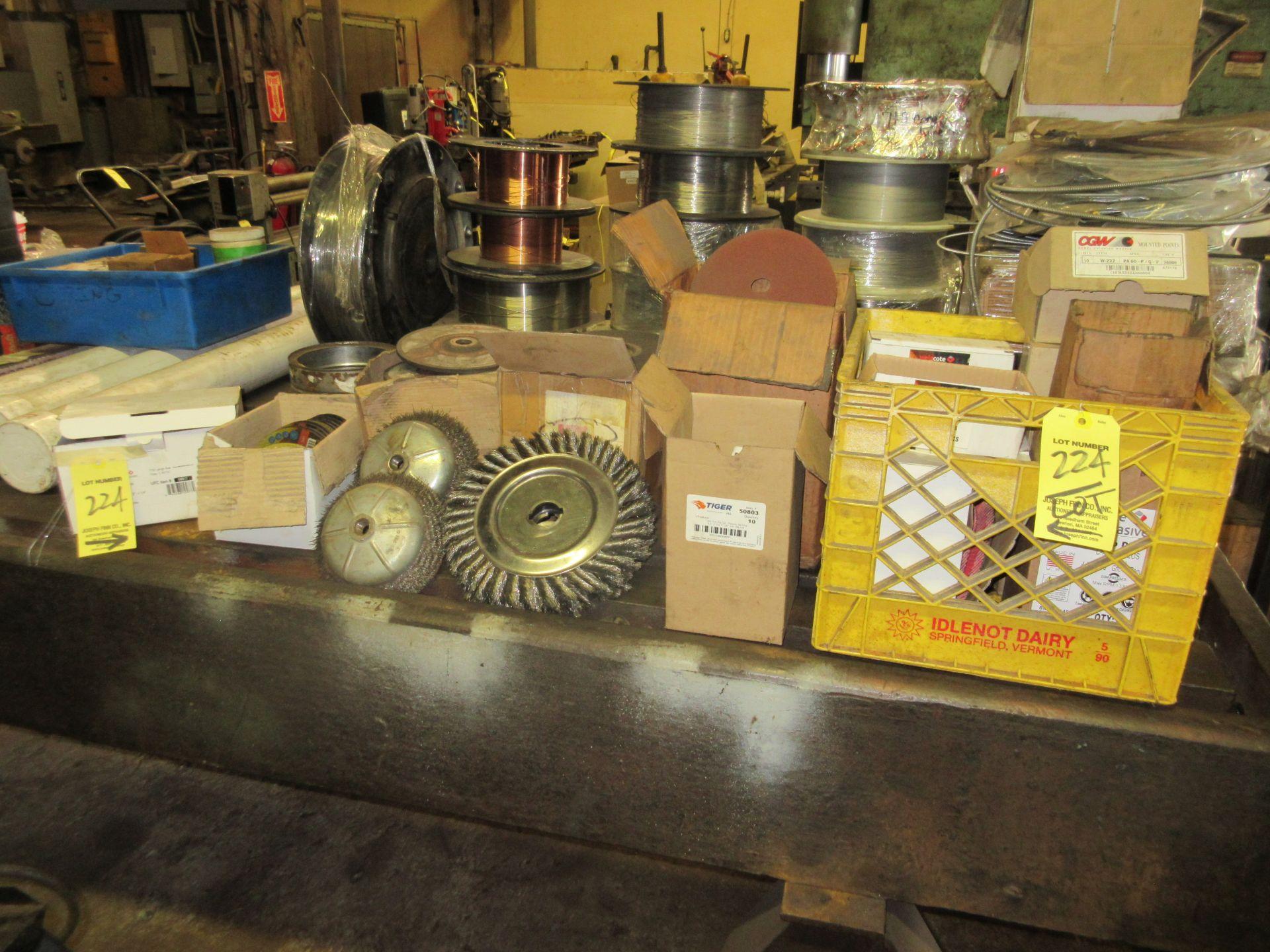 LOT Asst. Buffing Wheels, Grinding Wheels Along Bench