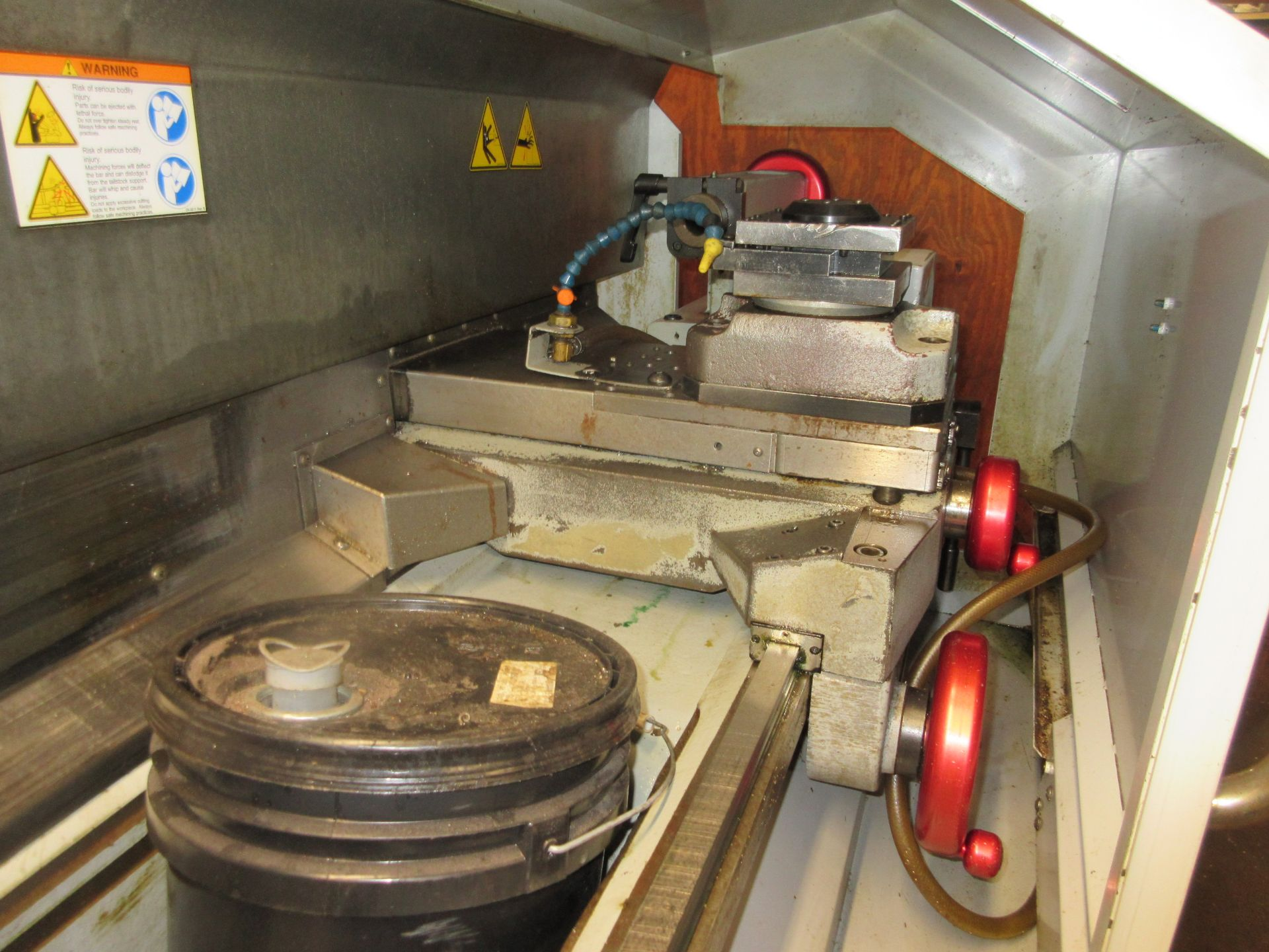(1) 2008 Haas TL-2 CNC Lathe S/N 3081060, With (4) Position Tool Changer, 3 Jaw Chuck & Steady Rest - Image 5 of 10