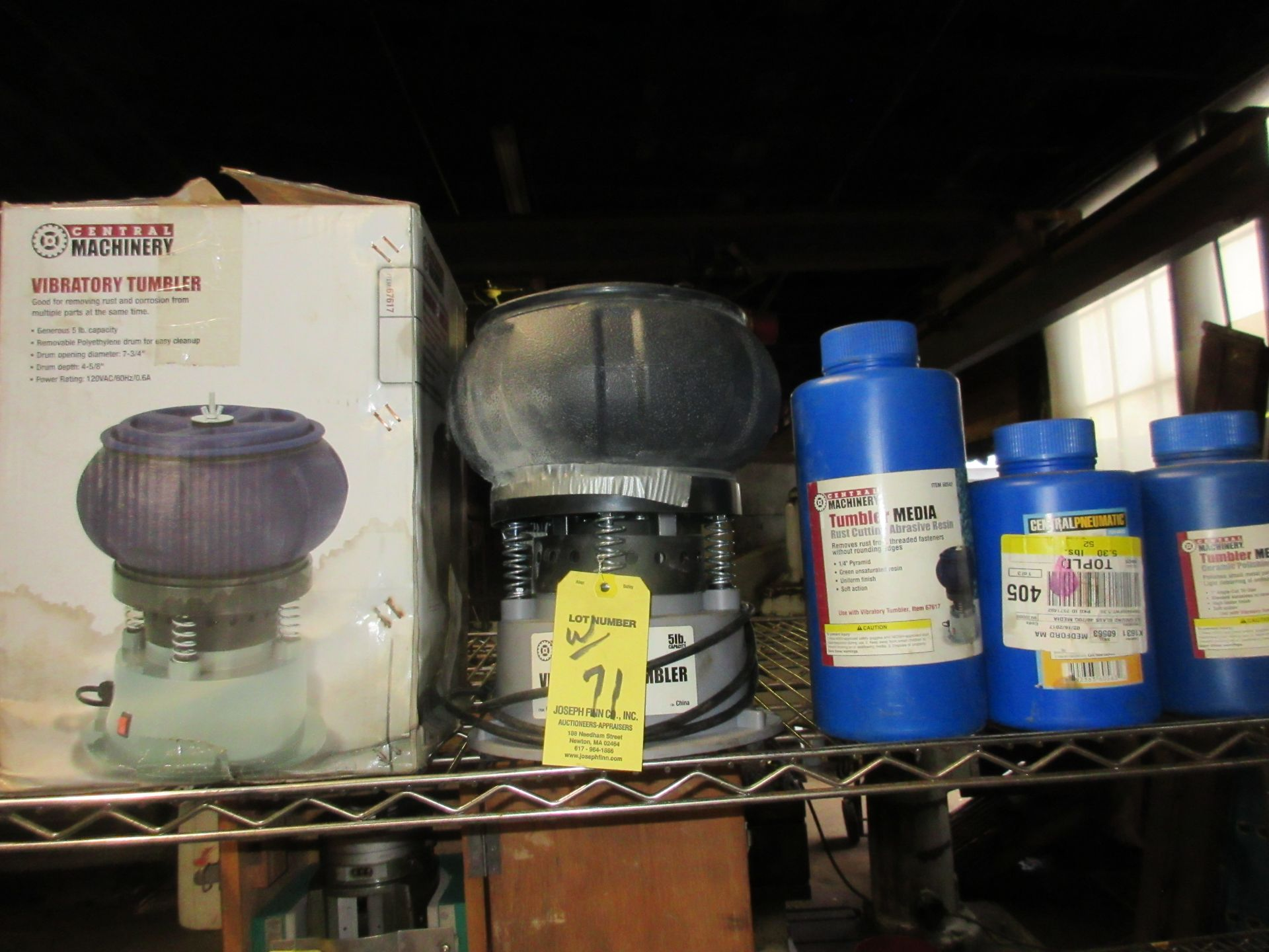 LOT Central Machinery Bench Top Vibratory Tumbler w/ Media, & Bench Top Barrel Tumbler - Image 2 of 2