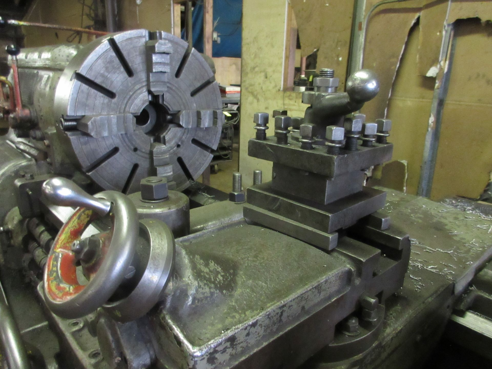 """(1) Axelson 25"""" X 96"""" Lathe S/N 24"""" 4 Jaw Chuck, Steady Rest & Taper Attachment, Tool Post - Image 5 of 5"""