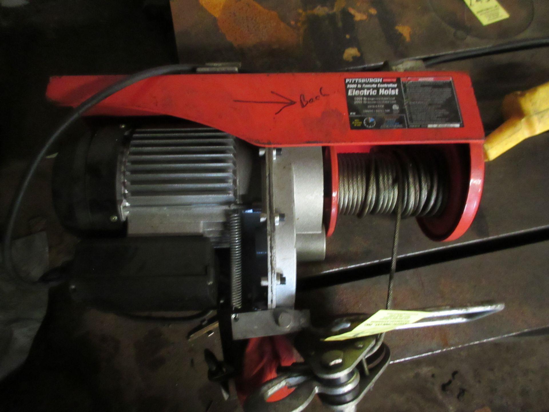 (1) Pittsburgh 2000 K. Remote Control Electric Hoist