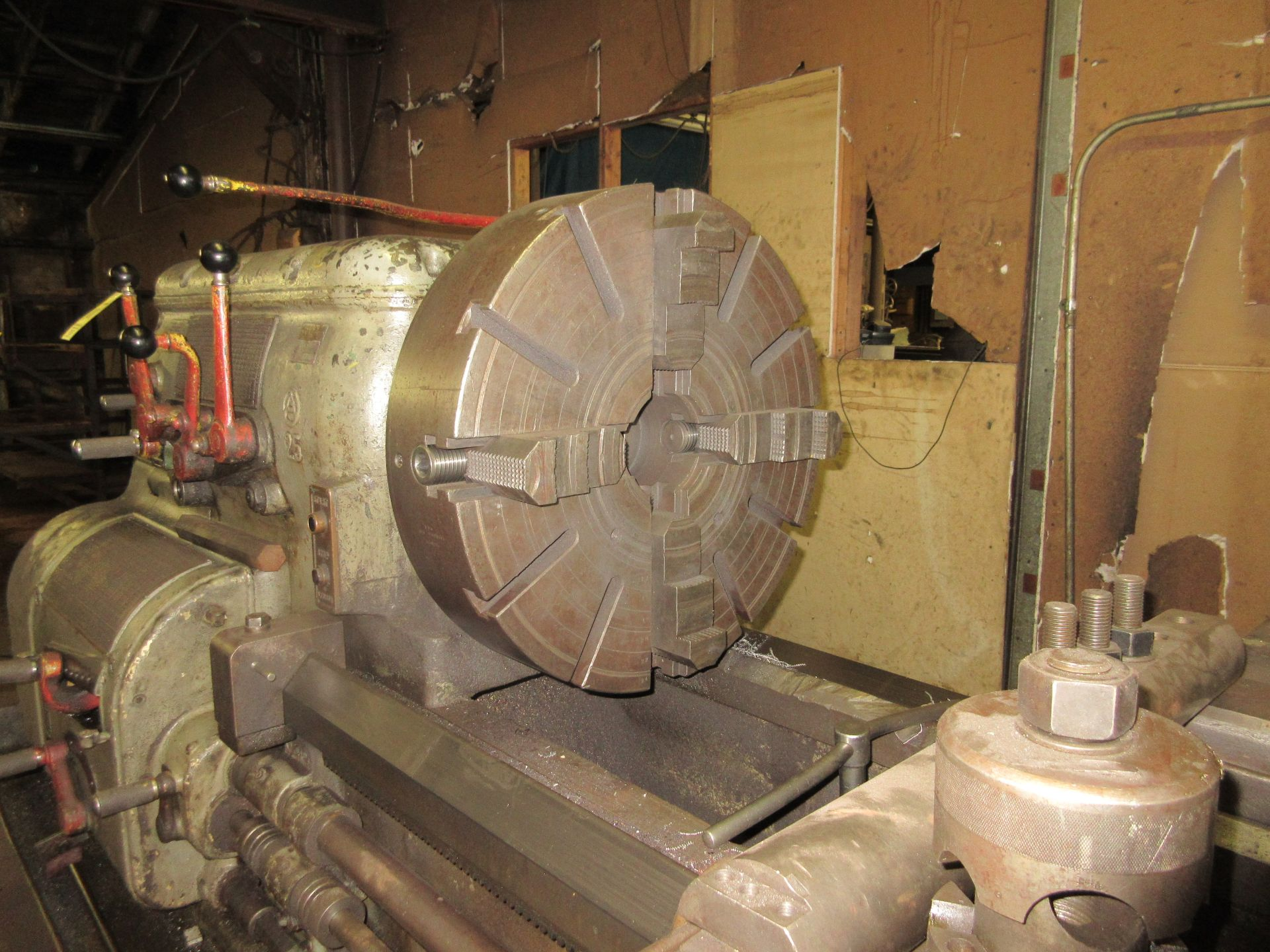 """(1) Axelson 25"""" X 96"""" Lathe S/N 24"""" 4 Jaw Chuck, Steady Rest & Taper Attachment, Tool Post - Image 3 of 5"""