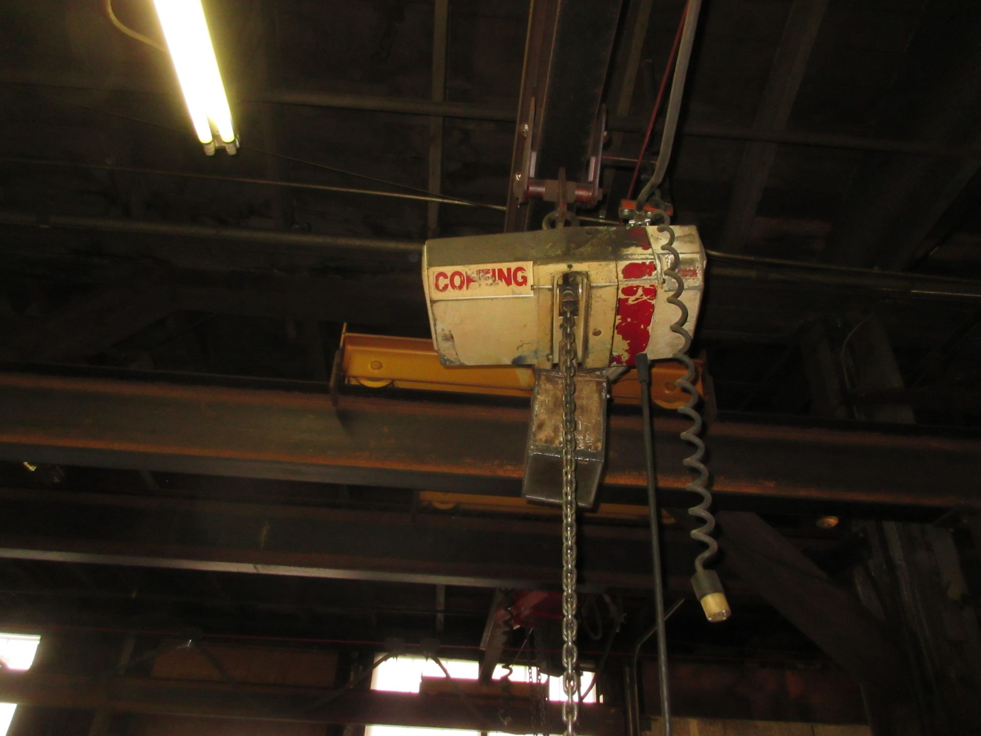 (1) Coffing 2-Ton Chainfall w/ Pendant Control