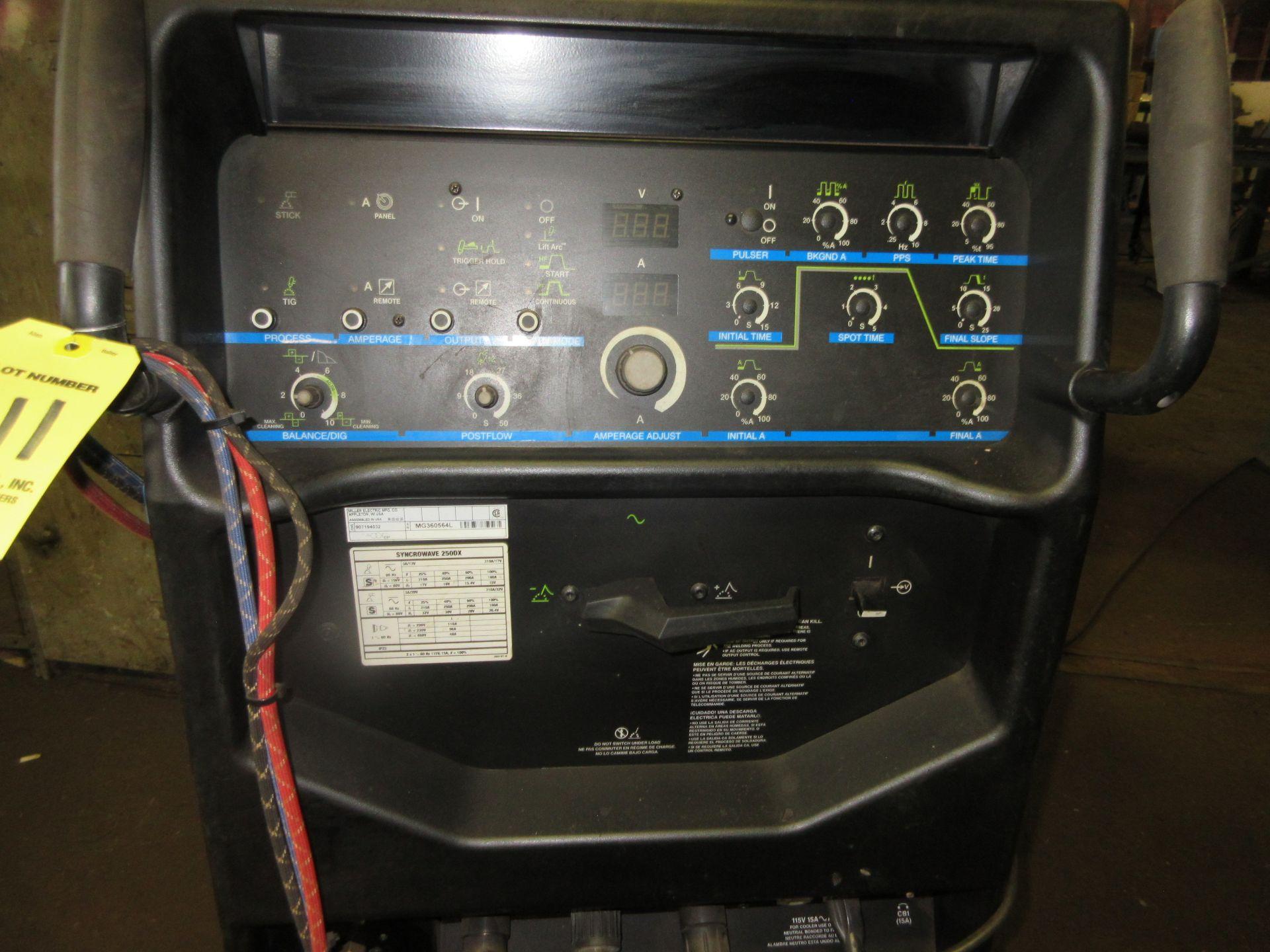 (1) Miller Syncrowave 250DX Welder s/n MG360564L, Port., Foot Control - Image 2 of 4