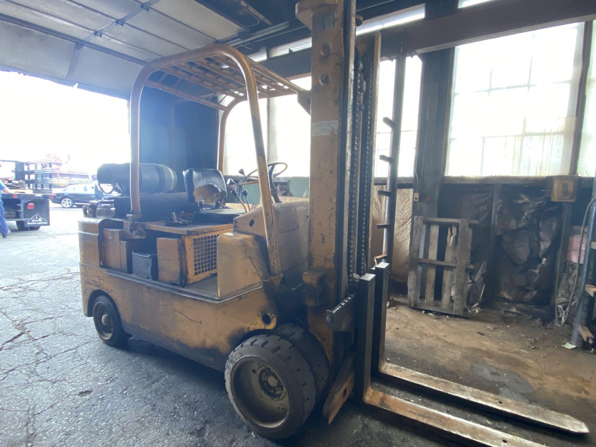 """(1) Caterpillar T120C LPG Forklift S/N 55L447, 12,000# Capacity, 156"""" Lift, 3584 Hrs."""