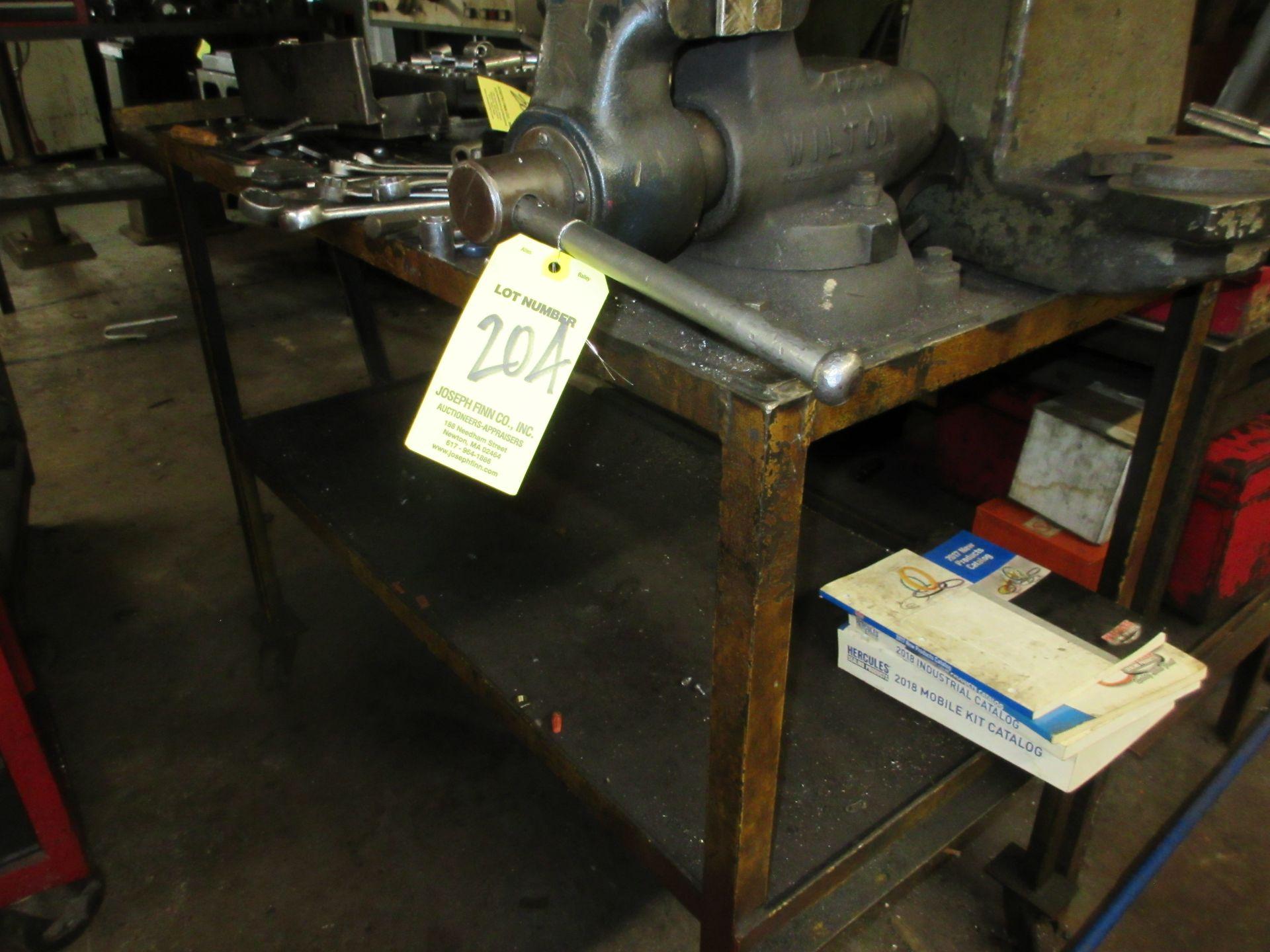 "(1) Wilton 4"" Vise w/ Port. Steel Table - Image 2 of 2"