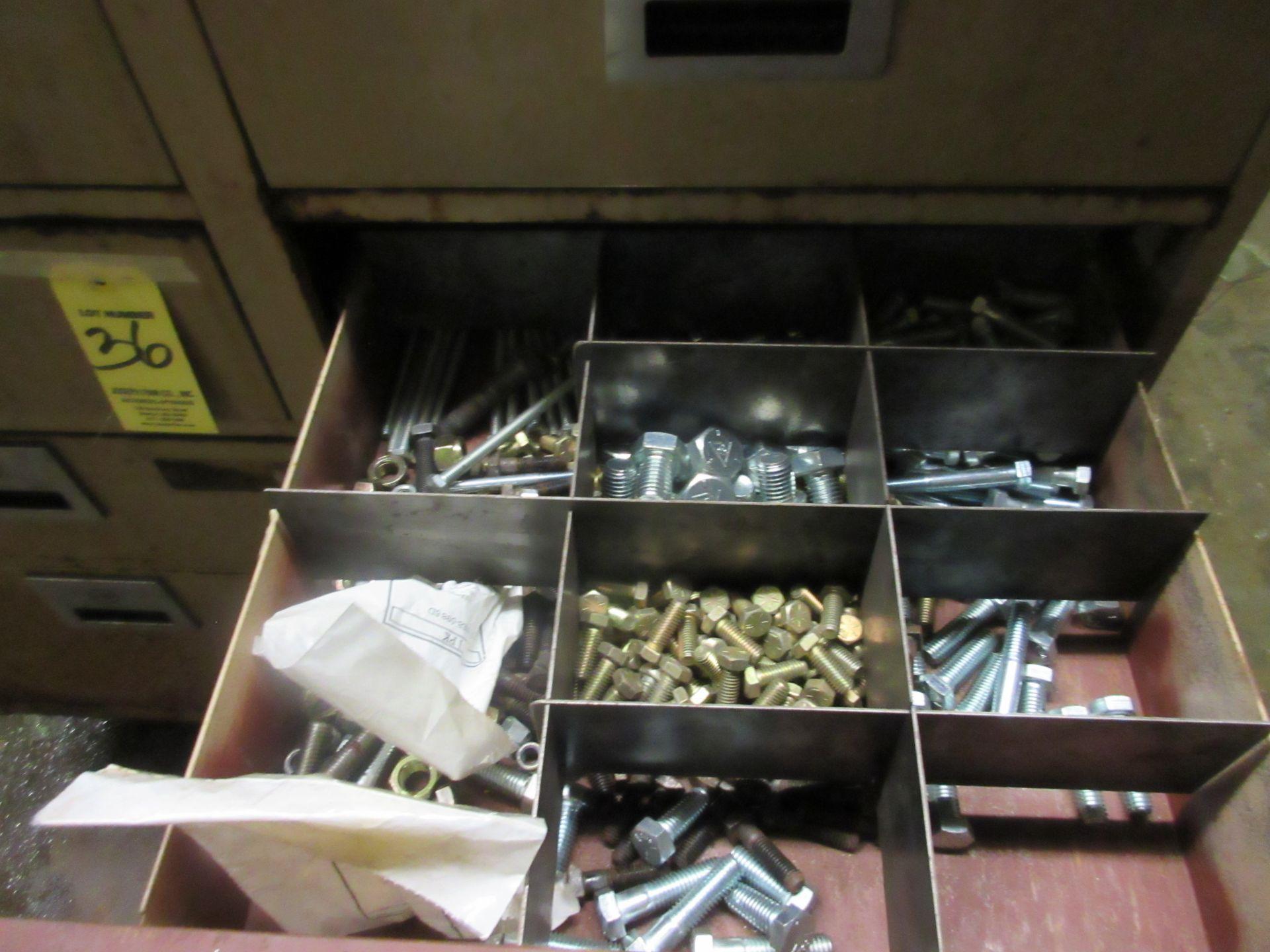 (1) 8-Drawer Metal Cabinet w/ Hardware - Image 2 of 2
