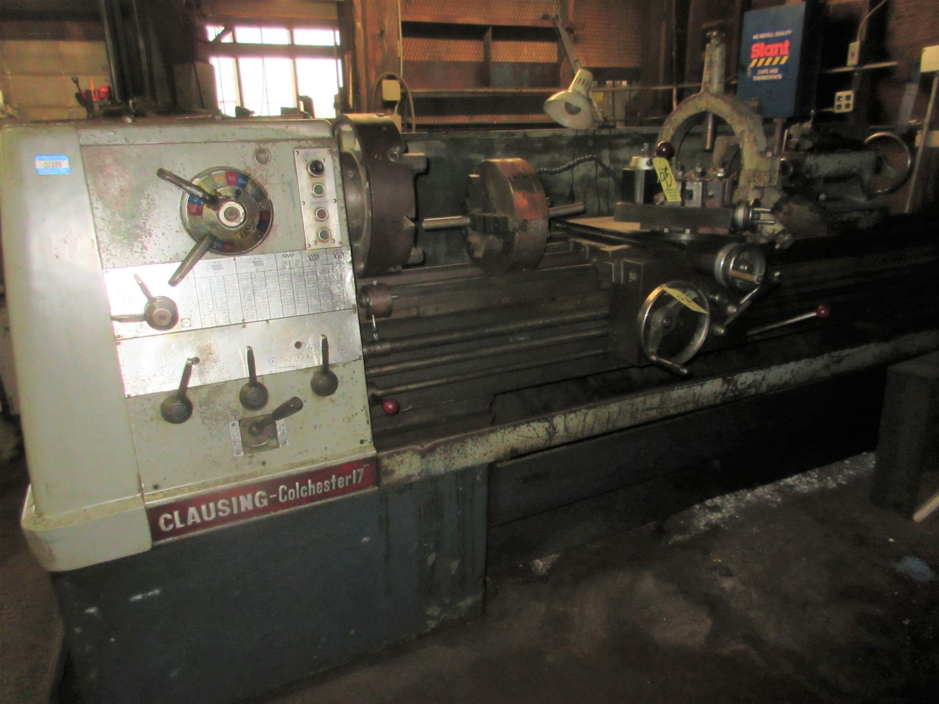 """Clausing Colchester 17"""" X 84"""" W/3"""" Spindle Hole Toolroom Lathe (1) 14"""" 3 & 16"""" 4 Jaw Chuck & 1"""