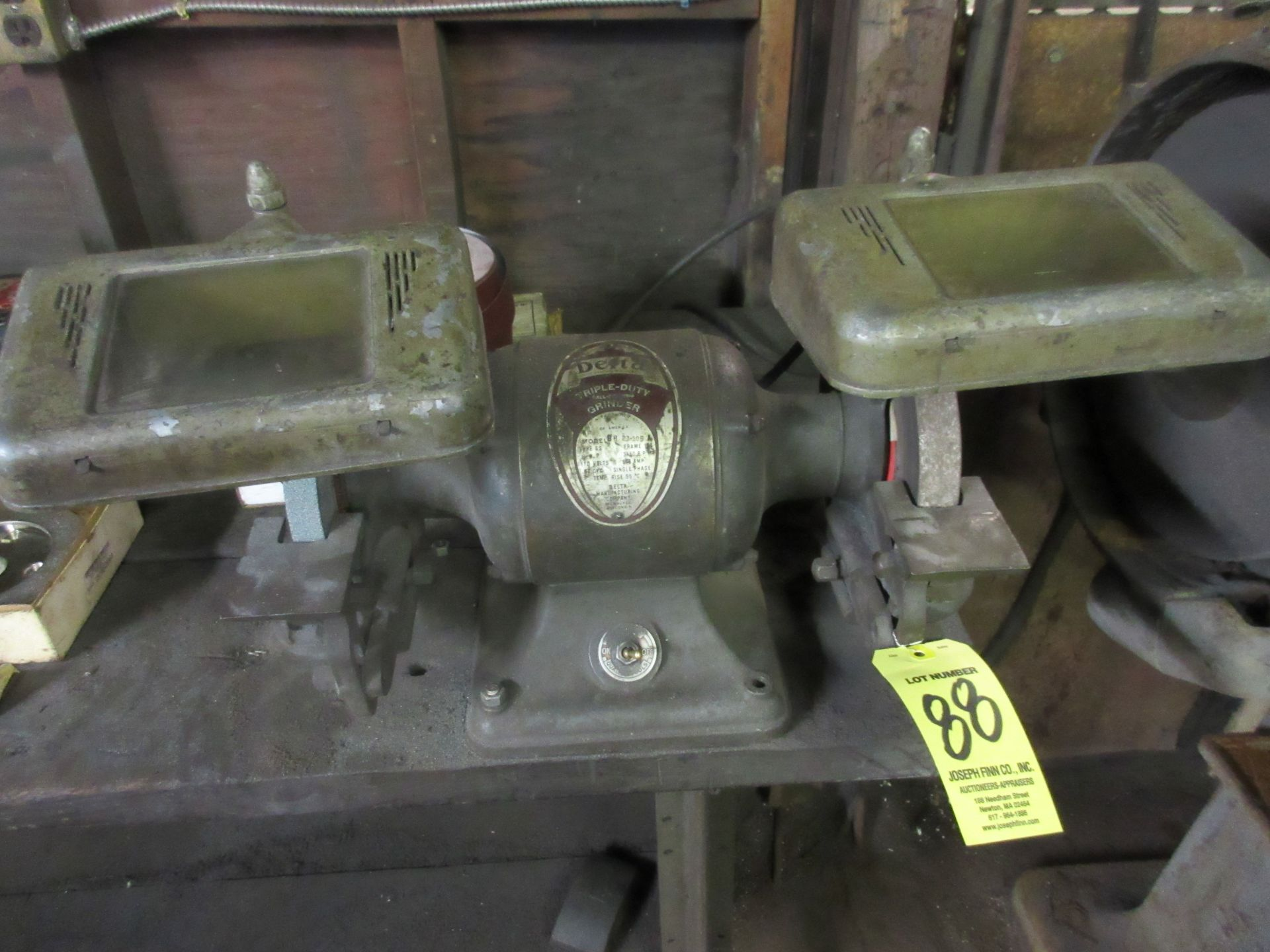 (1) Delta 8H Triple Bench Grinder