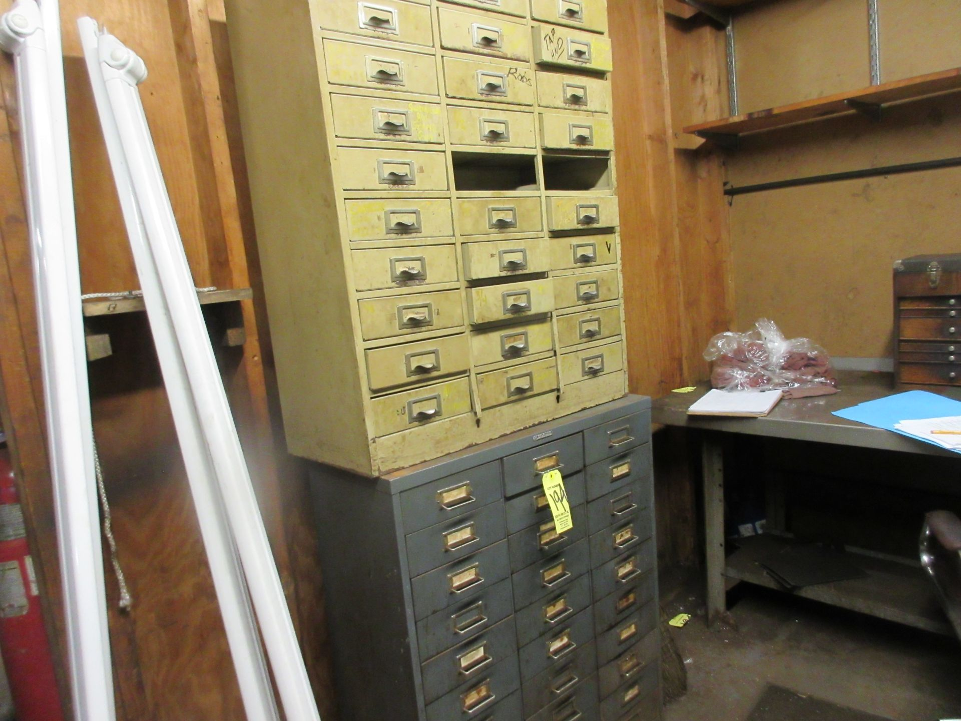 LOT (2) Parts Cabinets