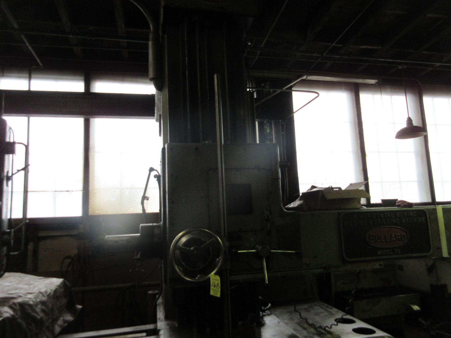 """(1) Bullard Model 75 4"""" Horizontal Boring, Milling & Drilling Machine S/N 30512 - Image 2 of 7"""