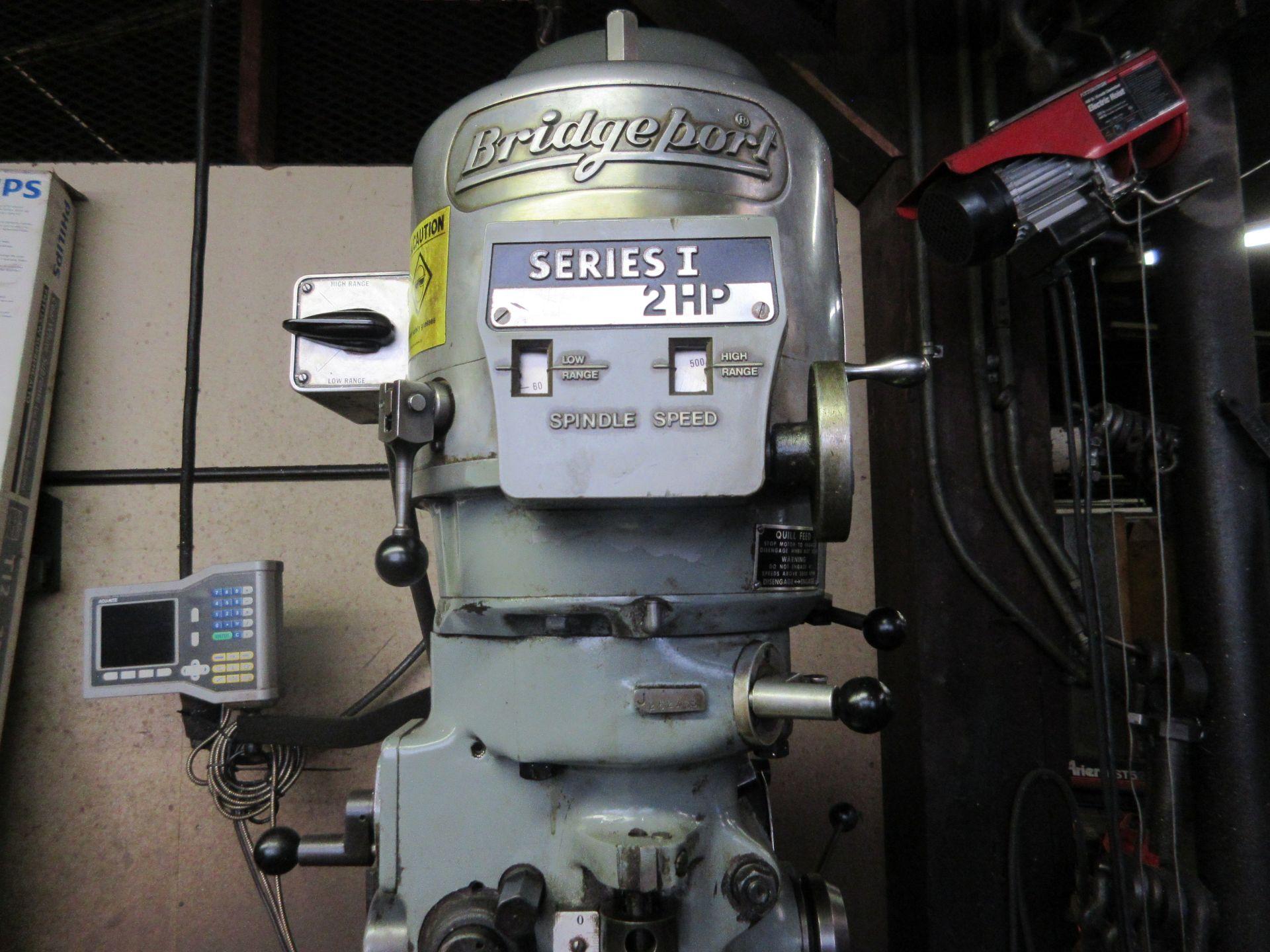(1) Bridgeport Series 1 2 HP Vertical Miller S/N 233704, Power Feed Table - Image 2 of 6
