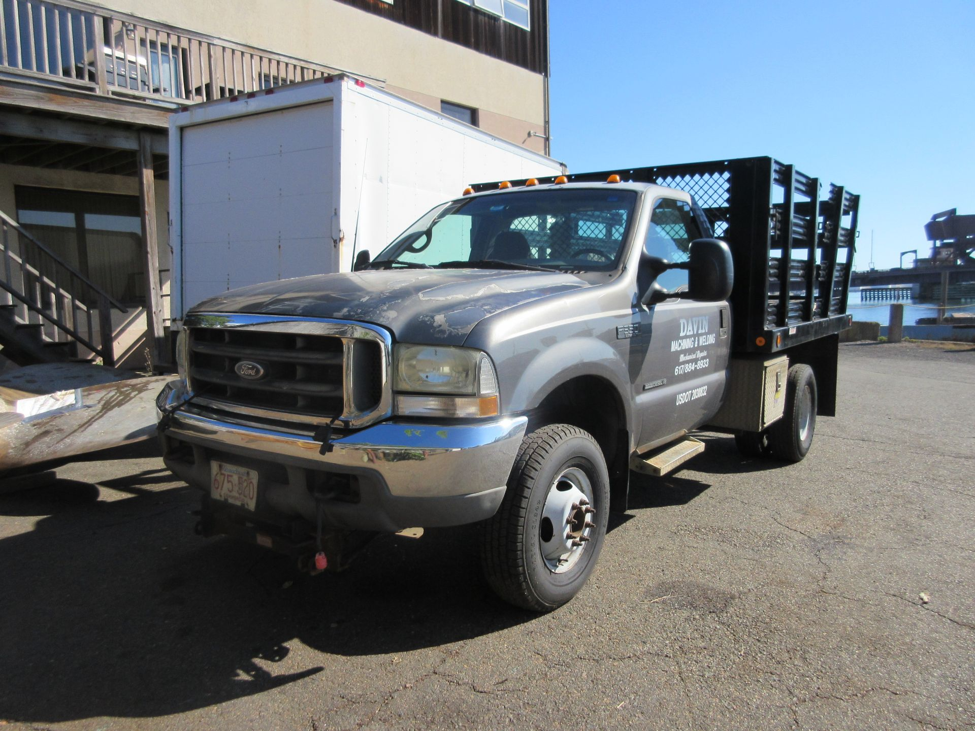 2002 Ford F-350 XLT Super Duty Power Stroke Flatbed Truck VIN 1FDWF37F62EB29656, Reading Body,
