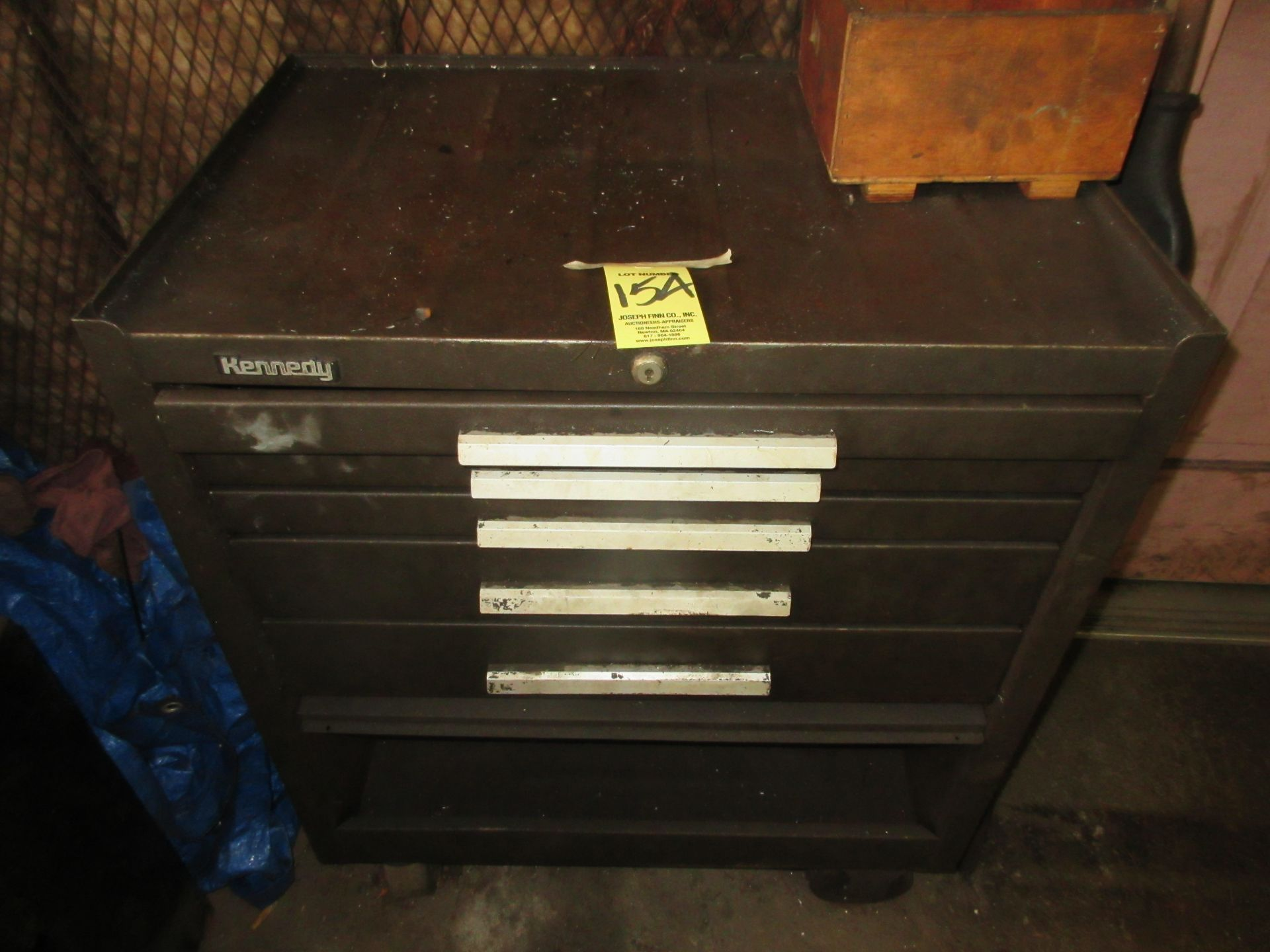 (1) 5-Drawer Port. Tool Box w/ Hold Downs