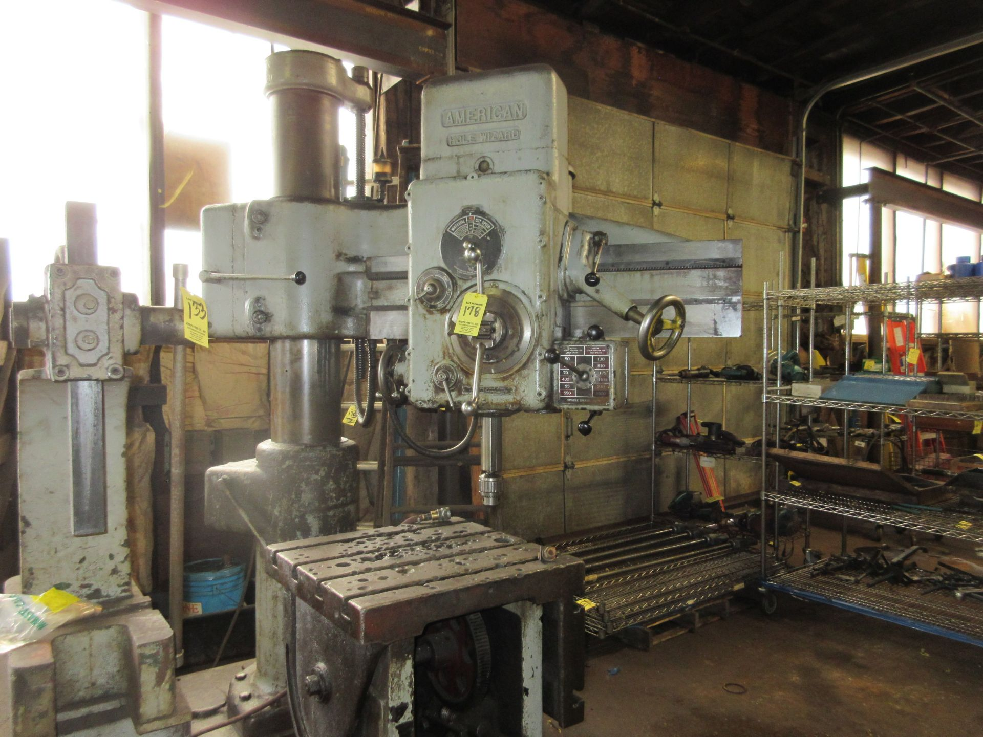 (1) American Hole Wizard Radial Arm Drill, Includes (2) Transformers