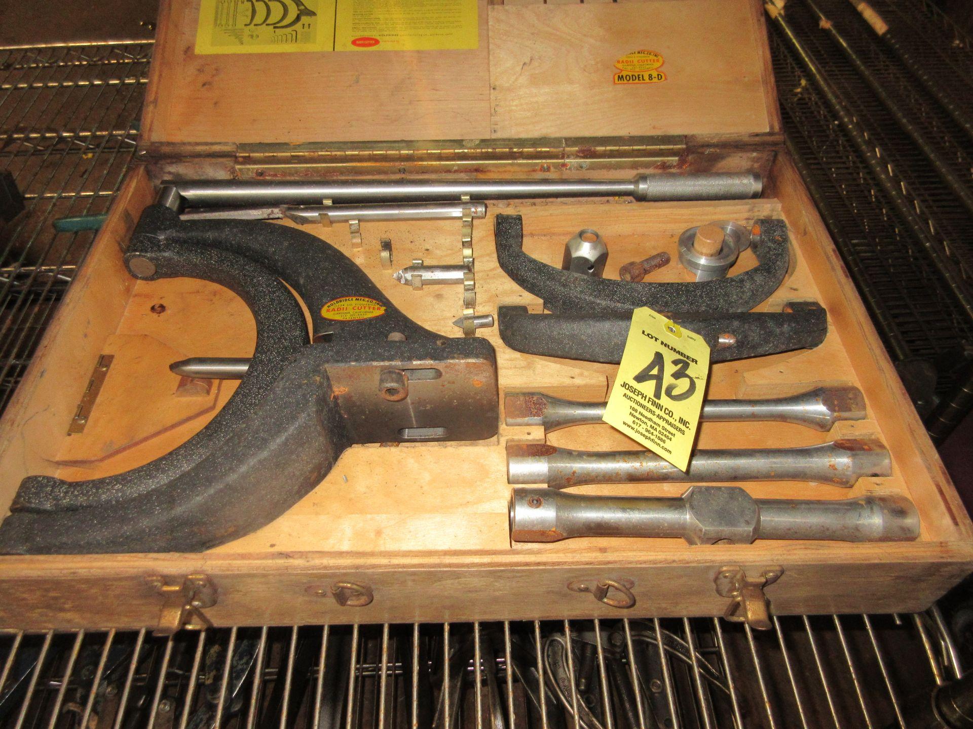 (1) Holdridge Rad II Radius Cutter, Mod. 8-D in Box