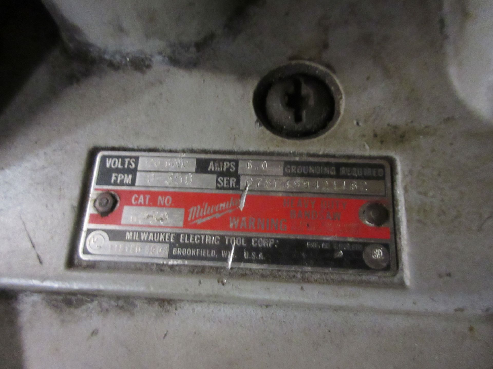(1) Milwaukee H.D. Deep Cut, Port. Band Saw, Cat #6230, In Case - Image 2 of 2