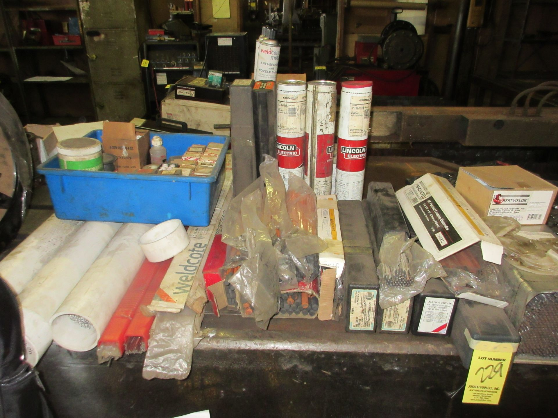 LOT Asst. Welding Rods on Bench