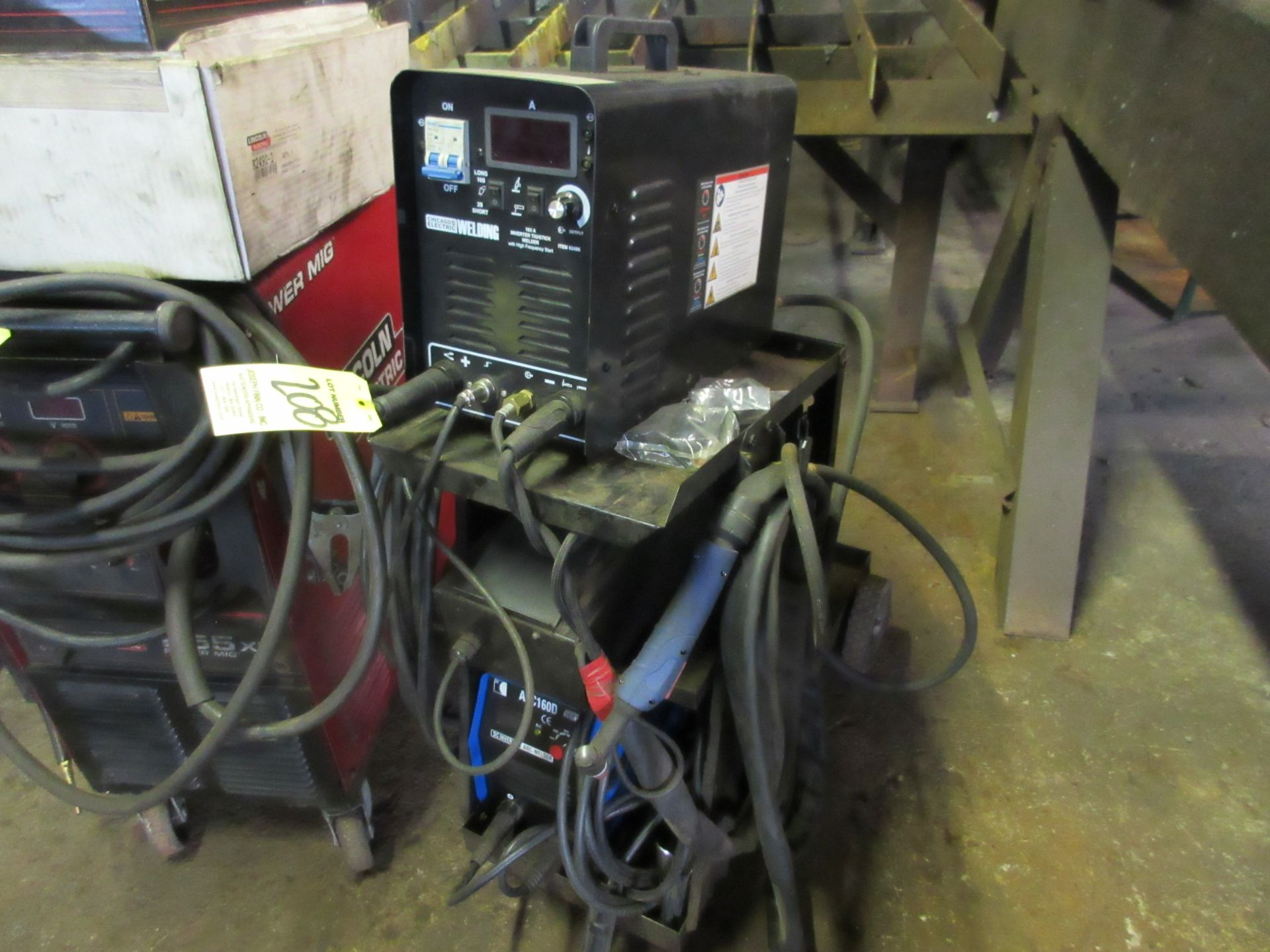 (1) IGBT Arc 160D Invertor Arc Welder w/ Chicago Electric Invertor Tig/Stick Welder, Foot Control - Image 5 of 5