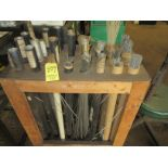 (1) Asst. Welding Rods in Wood Rack